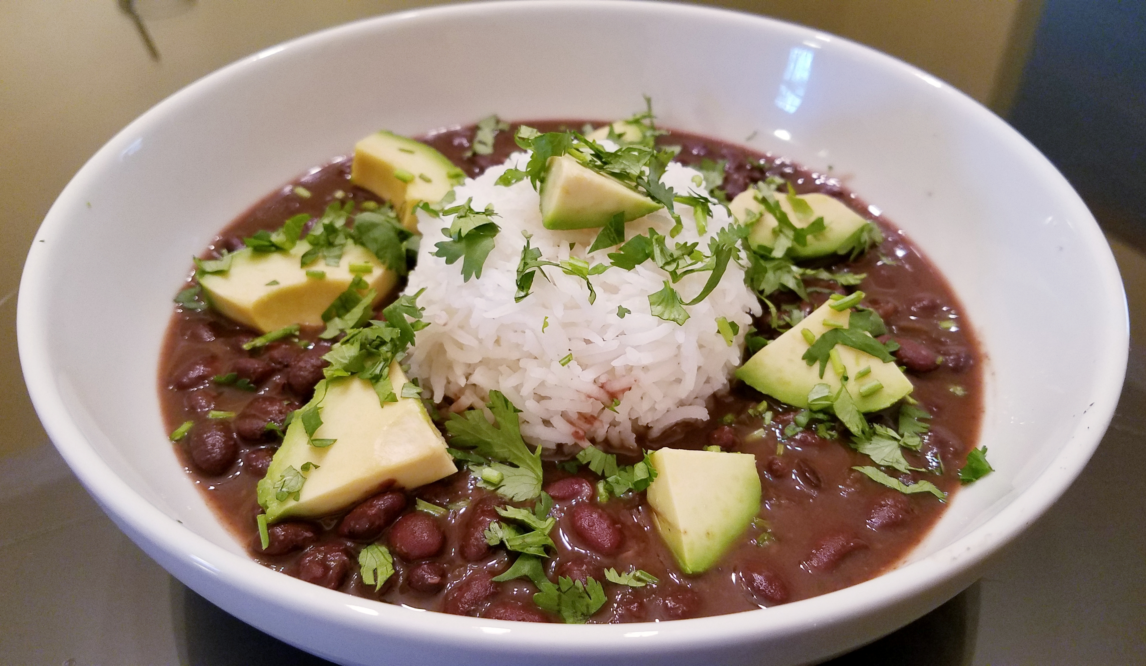 Spicy Slow Cooker Black Bean Soup image