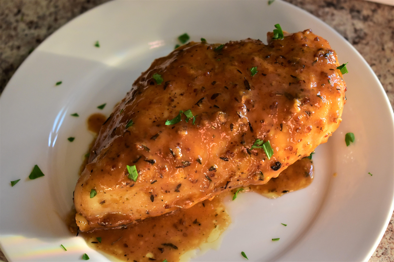 Chicken with Maple Mustard Glaze