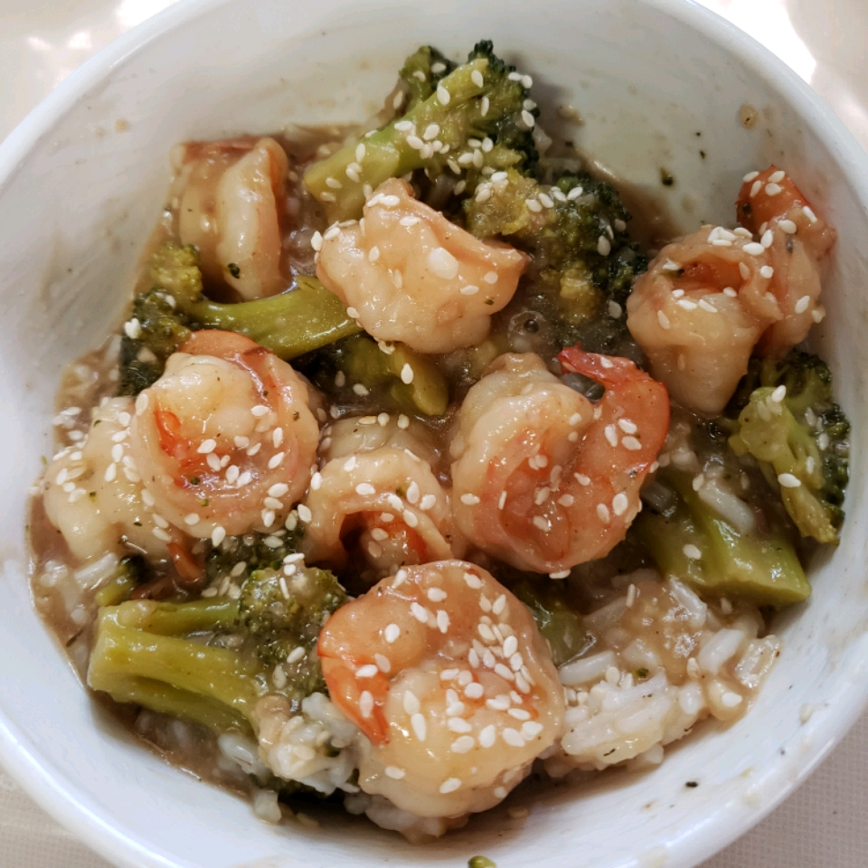 Shrimp with Broccoli in Garlic Sauce Marion
