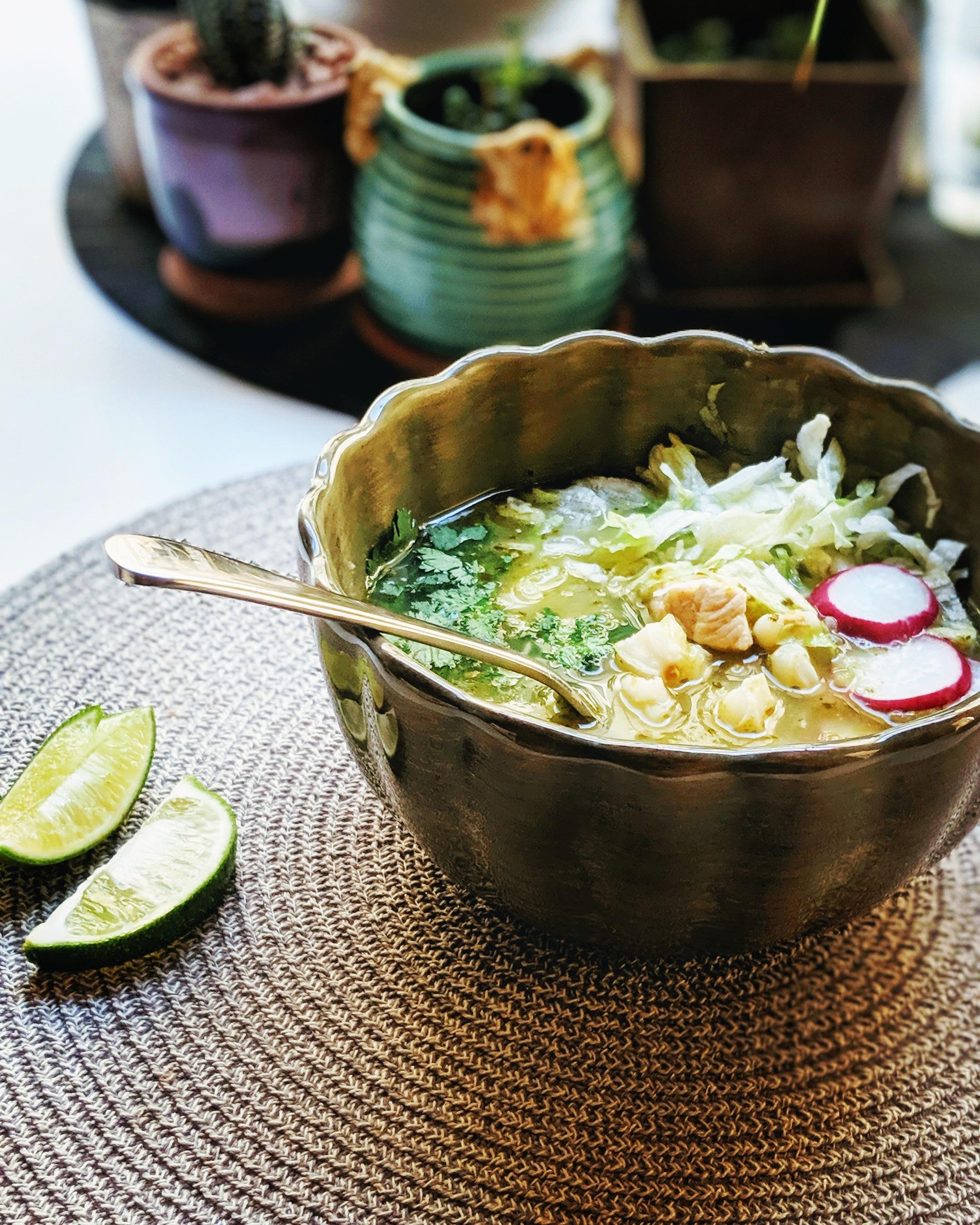 Instant Pot(R) Chicken Posole Verde Recipe
