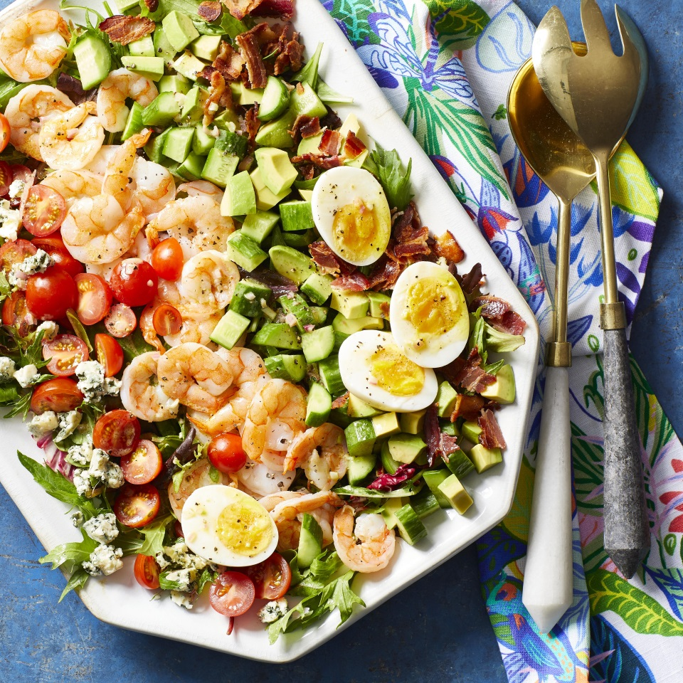 We've replaced chicken with shrimp in this delicious and easy spin on the classic Cobb salad. This satisfying salad takes just 20 minutes to make, so it's perfect for weeknight dinners, but it's elegant enough to serve to guests.