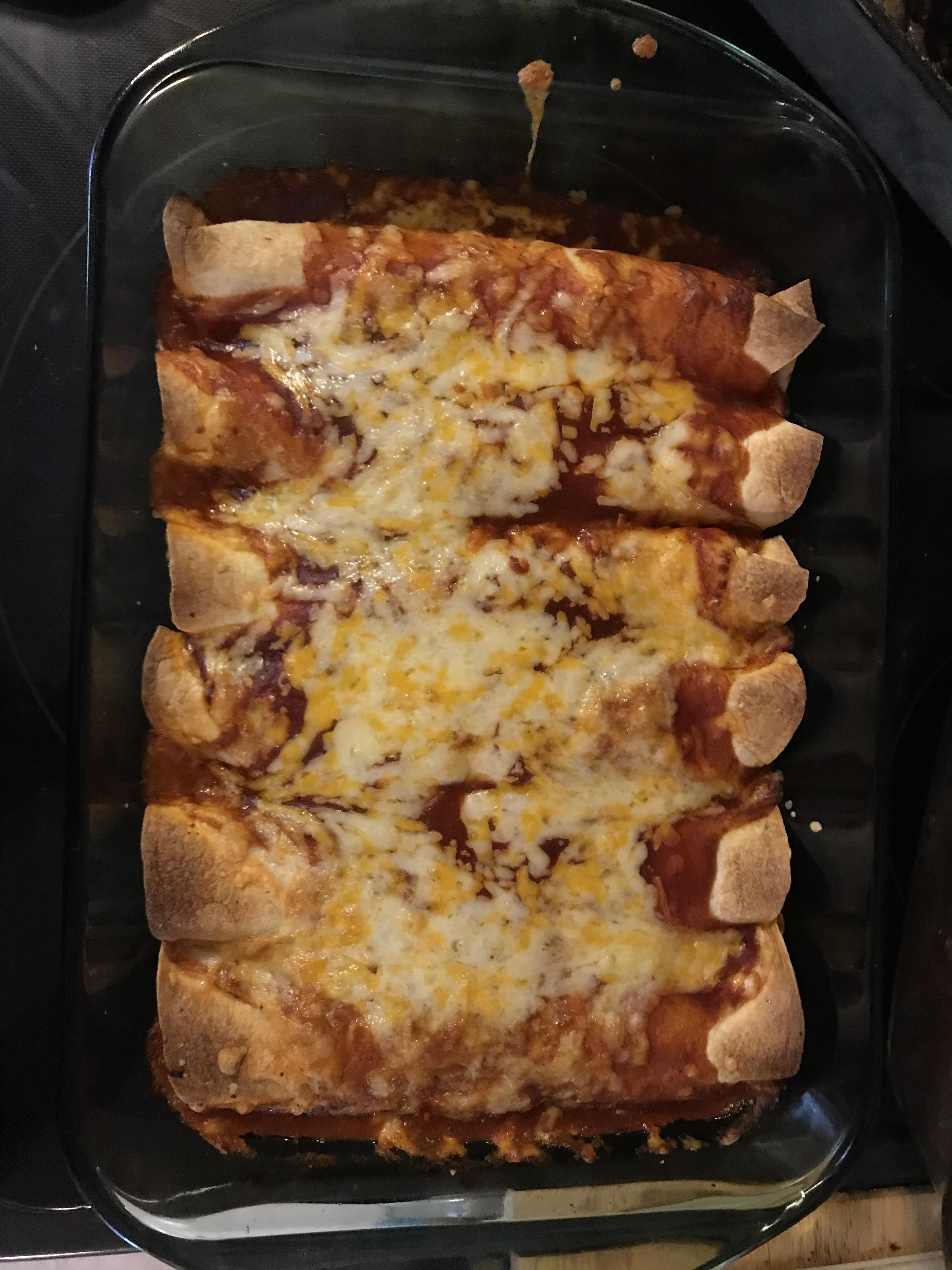 Bacon-Ranch Chicken Enchiladas