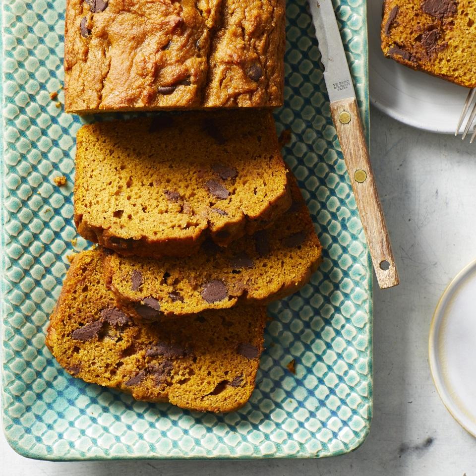 Pumpkin Chocolate Chip Bread Recipe Eatingwell