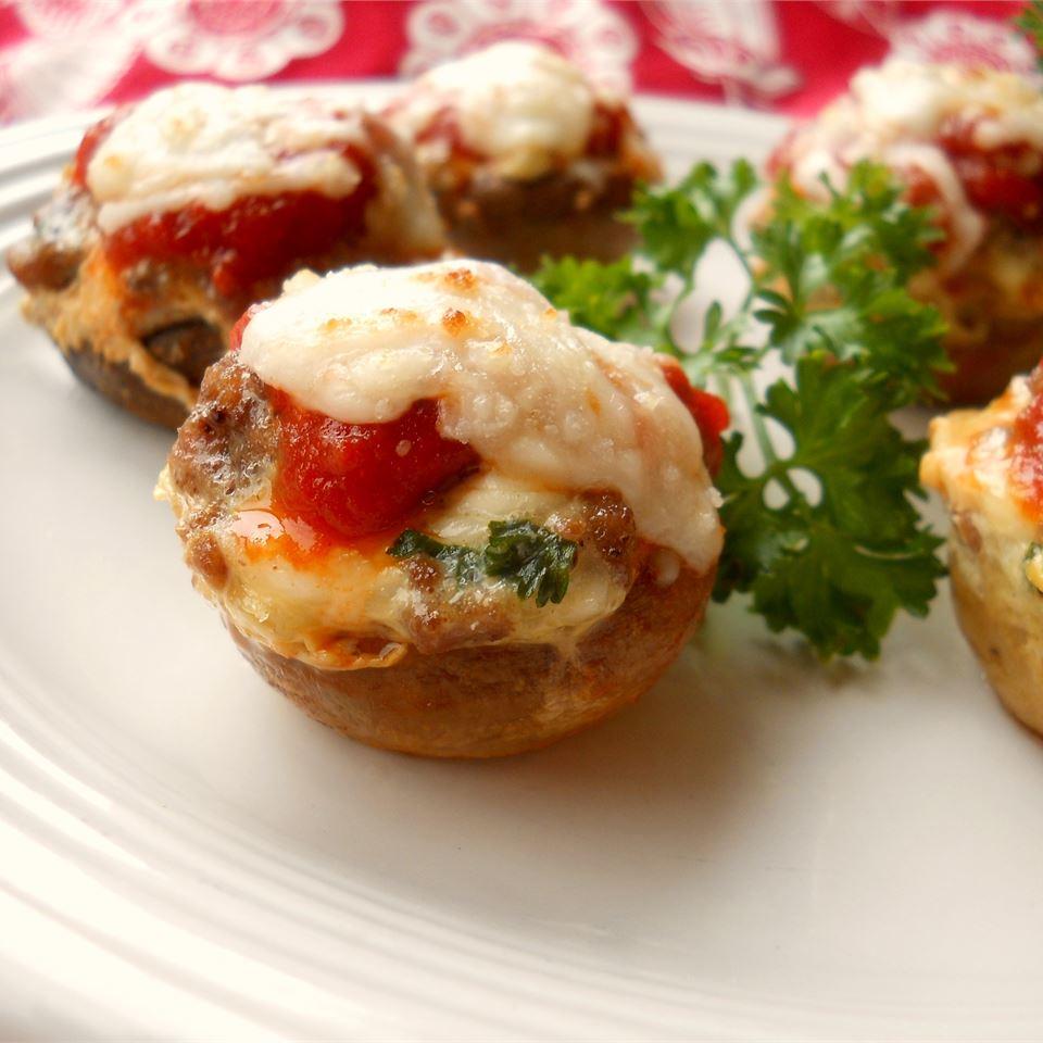 Lasagna-Stuffed Mushrooms