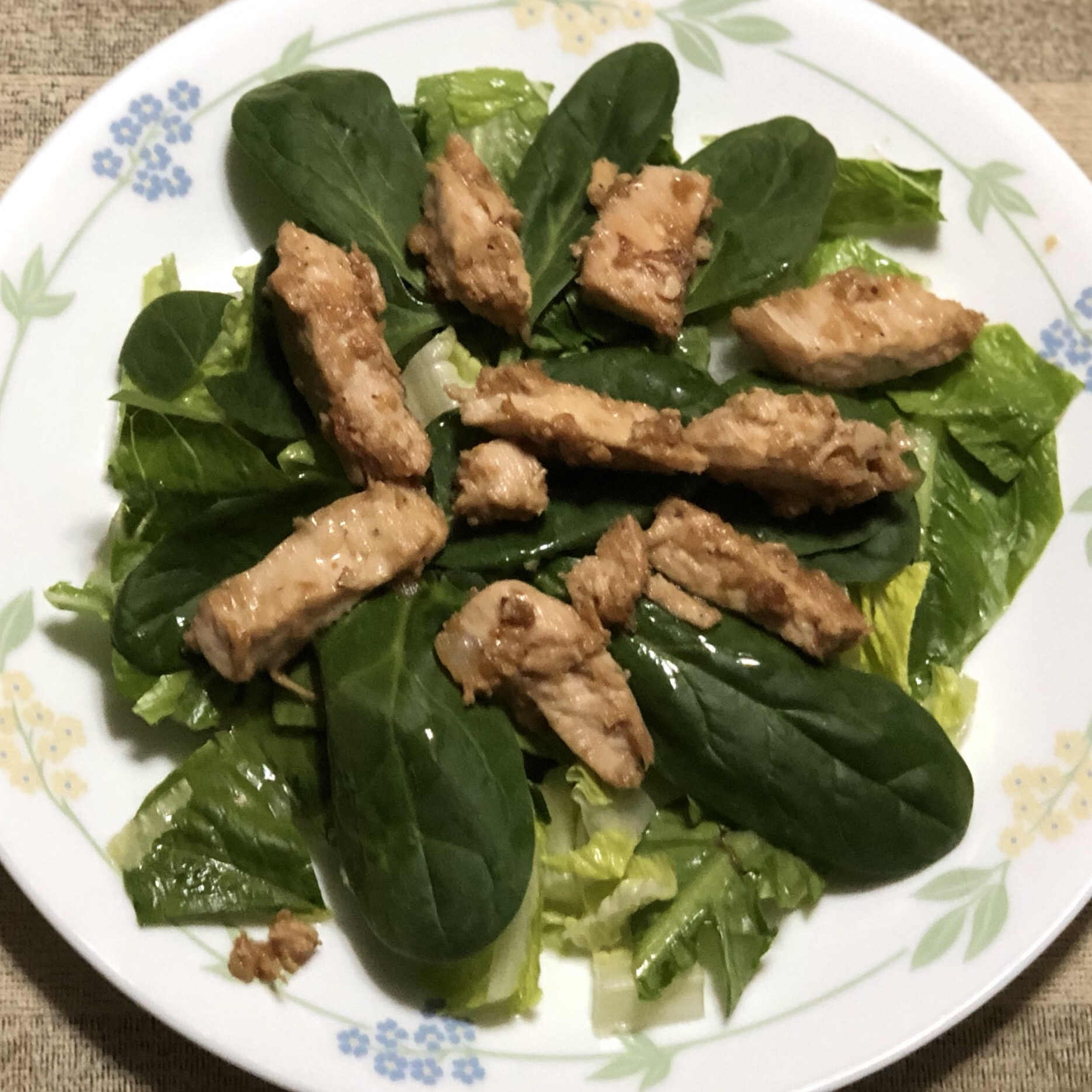 Lime-Garlic Chicken and Spinach Salad Cait F.