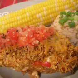 Bob's Mexican Stuffed Chicken Loves2Cook