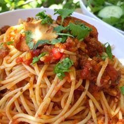 Mariu's Spaghetti with Meat Sauce CRAIG