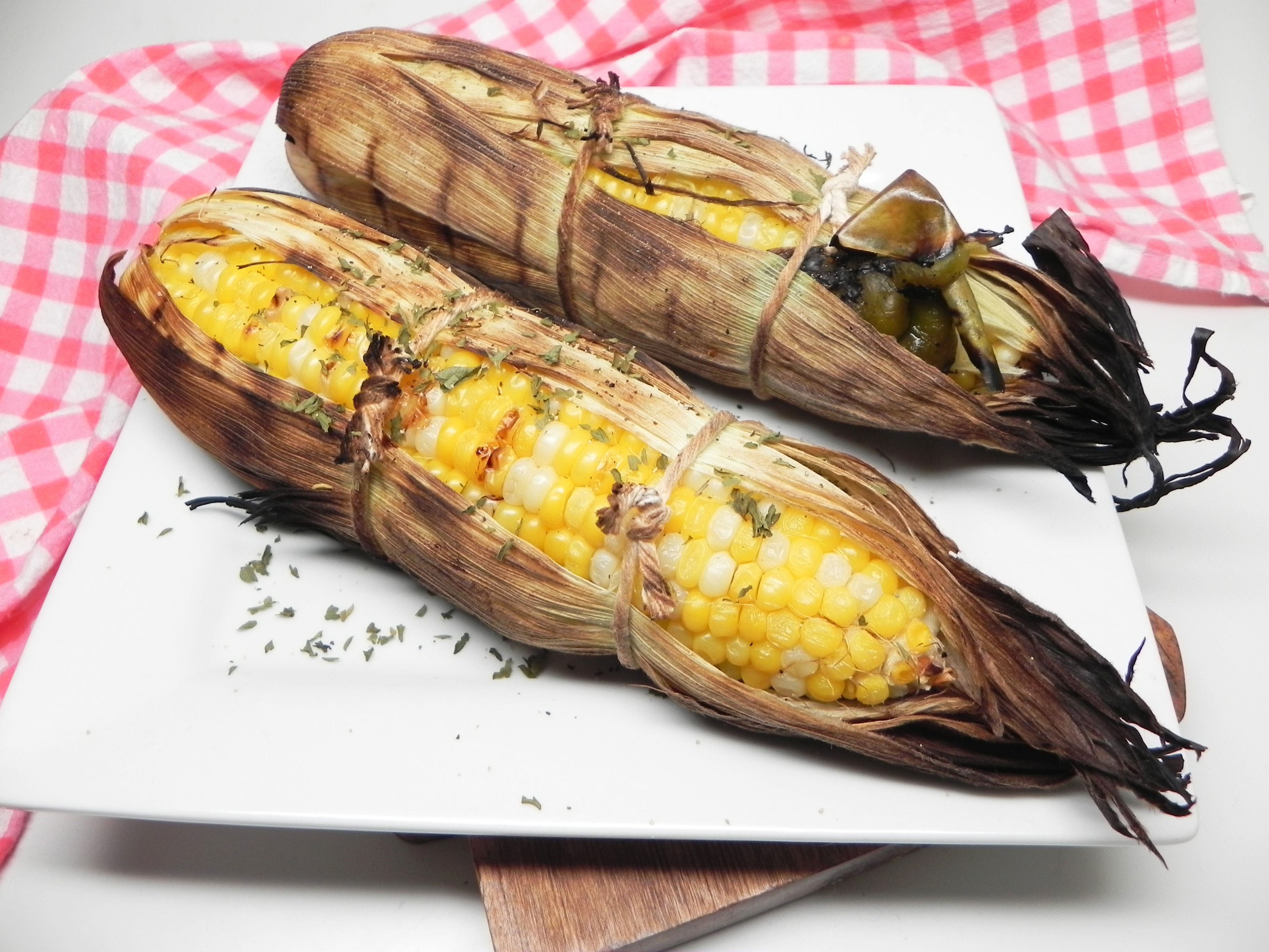 Grilled Corn with Green Chile
