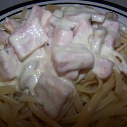 Linguine with Mushrooms & Ham