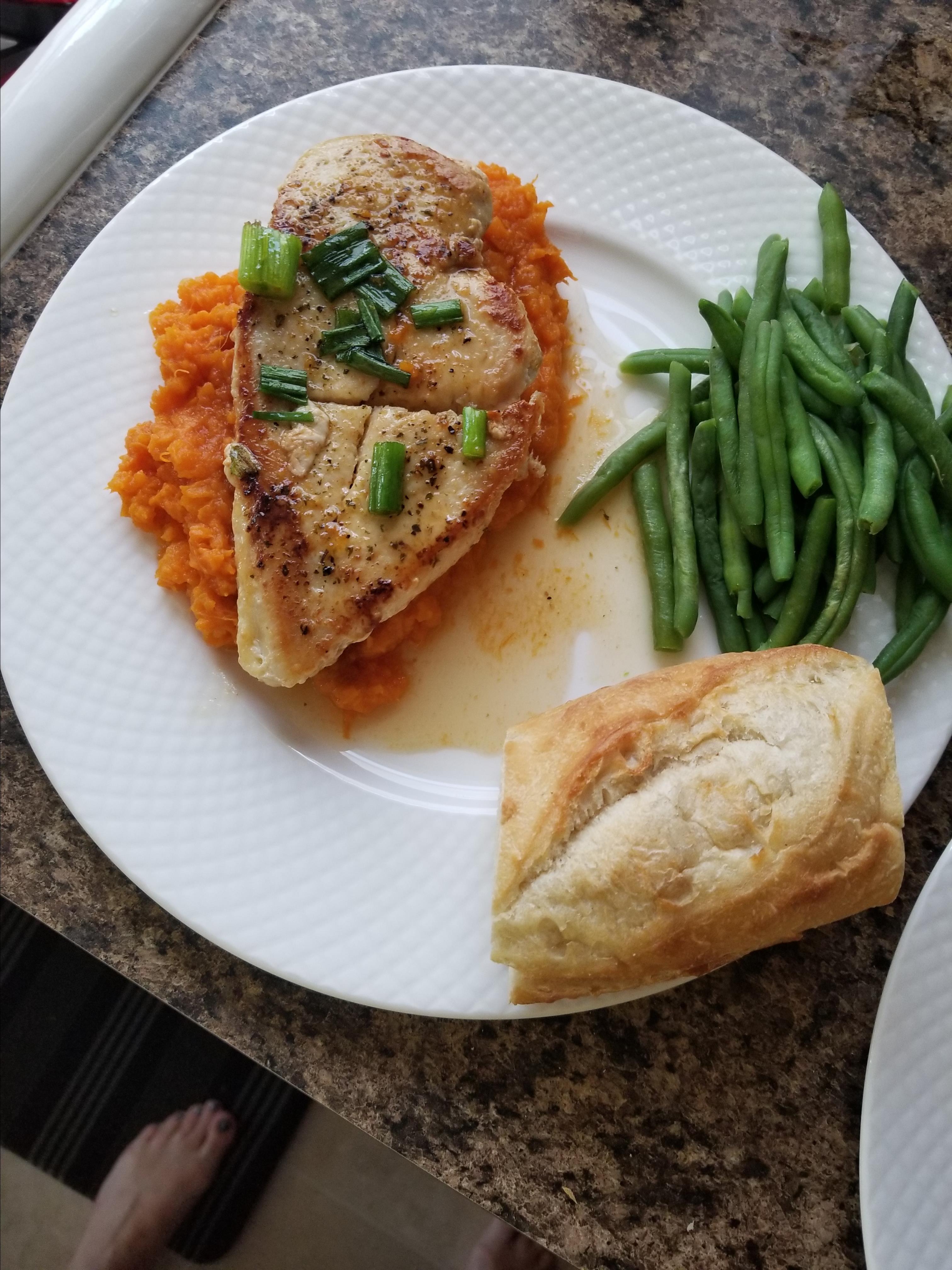 Maple Glazed Chicken with Sweet Potatoes Grandma Beckner
