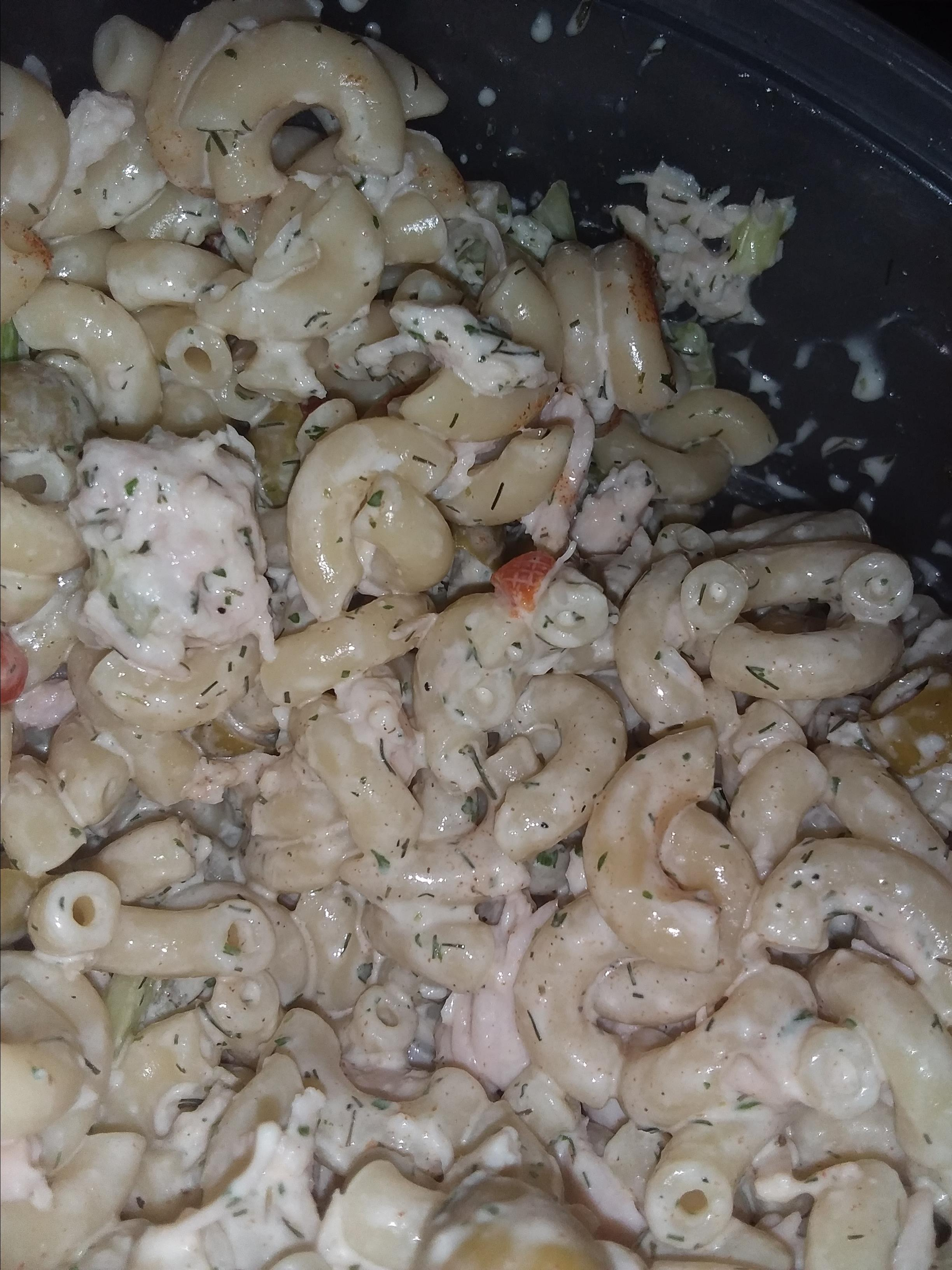 Simple Ranch Chicken Macaroni Salad Kimerlee Watson Jones