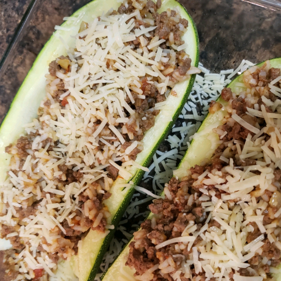 Stuffed Zucchini Boats with Meat Jazmine Scott Altland