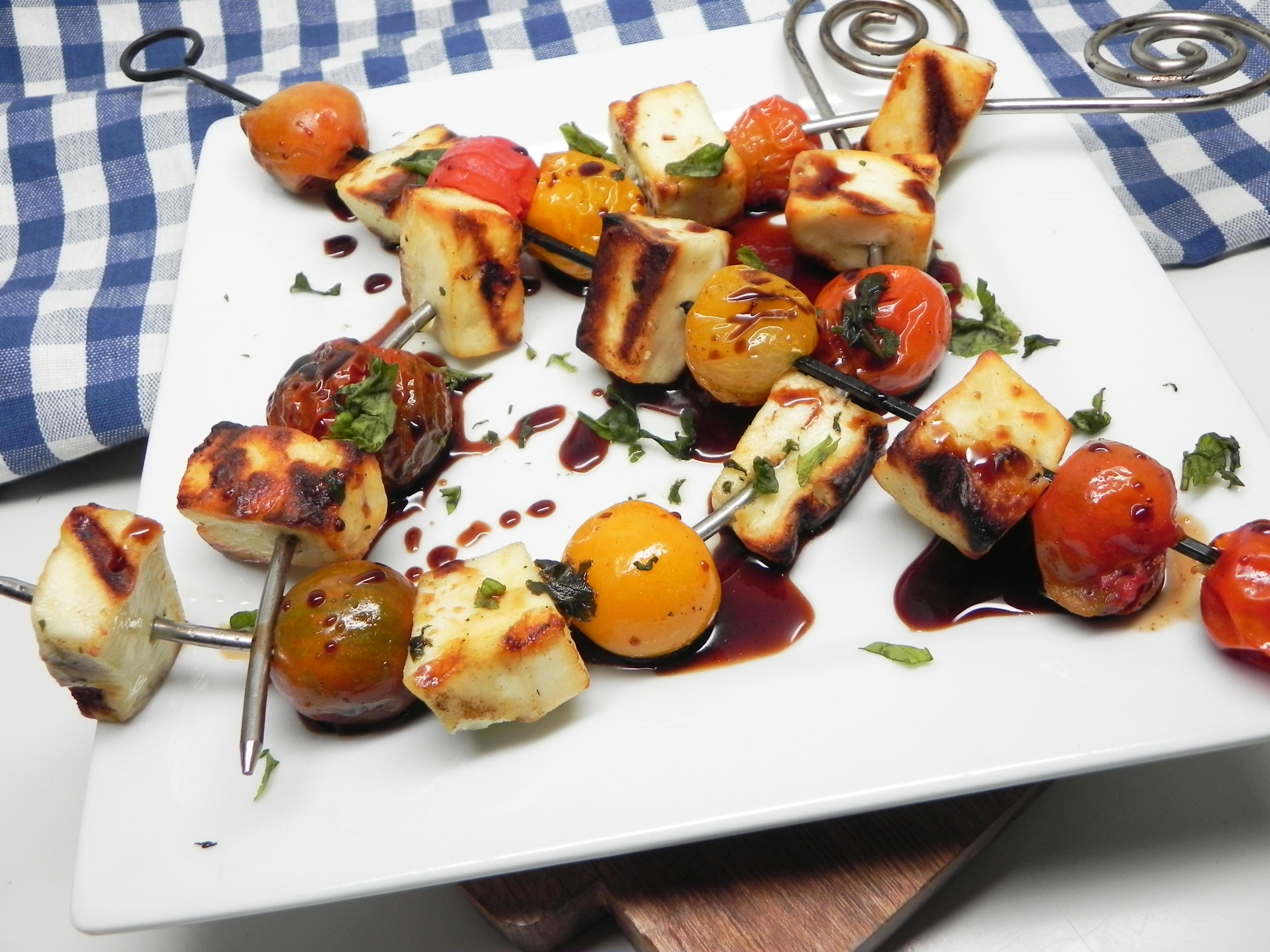 Grilled Halloumi Kebabs
