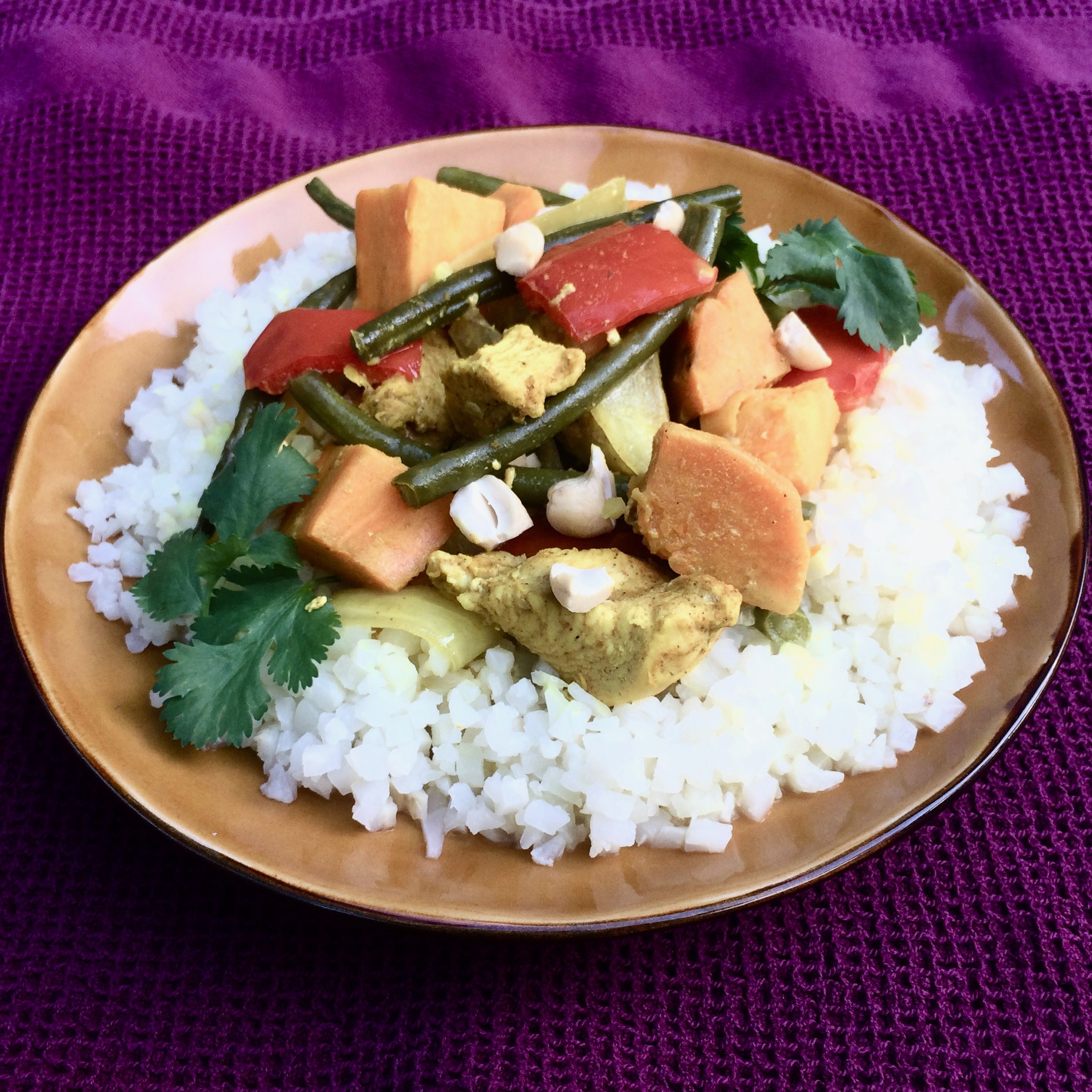 Coconut Curry Chicken and Vegetables in the Slow Cooker