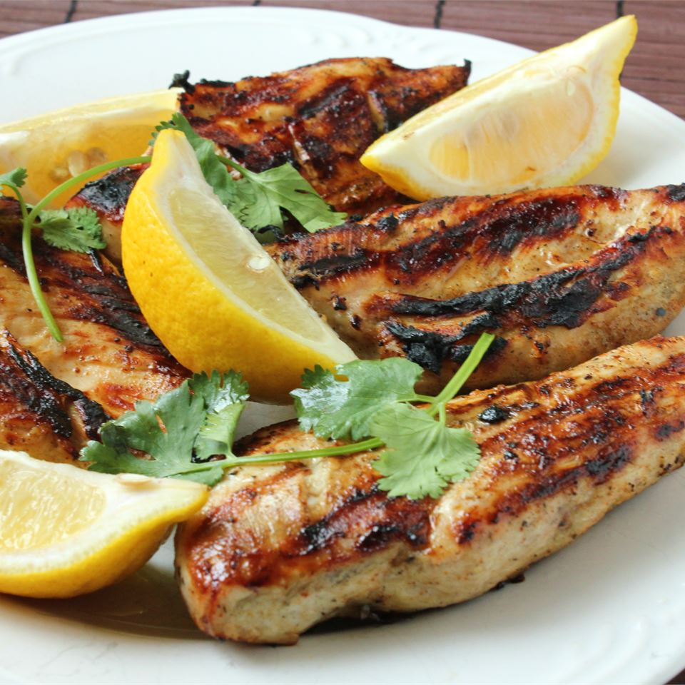 Greek Style Garlic Chicken Breast - Printer Friendly