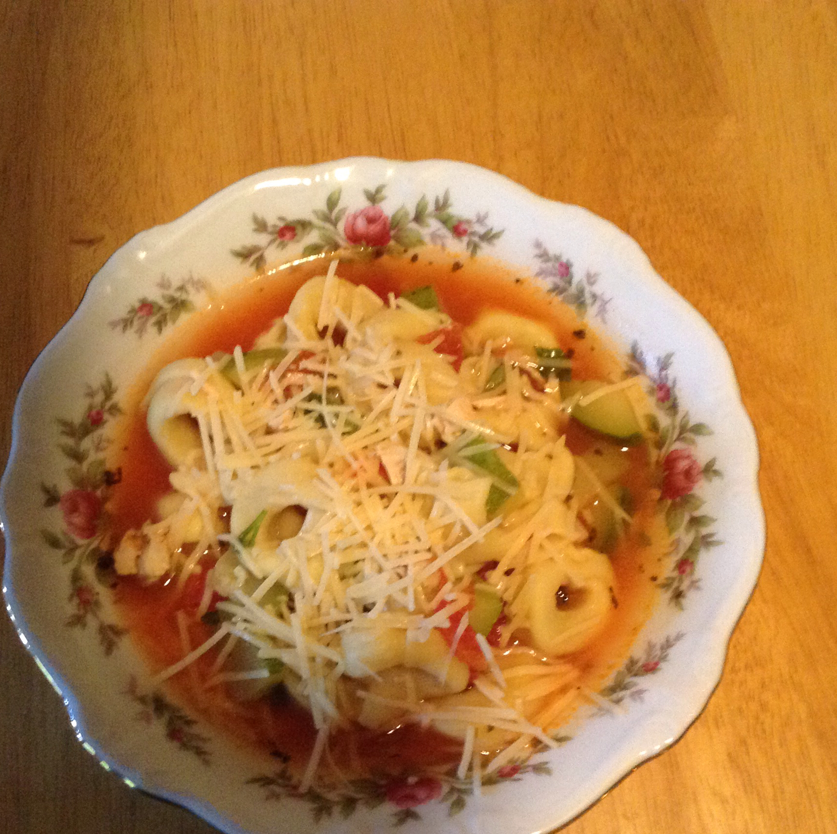 Chicken Tortellini Soup With Zucchini and Tomatoes Angie Conner Kenney