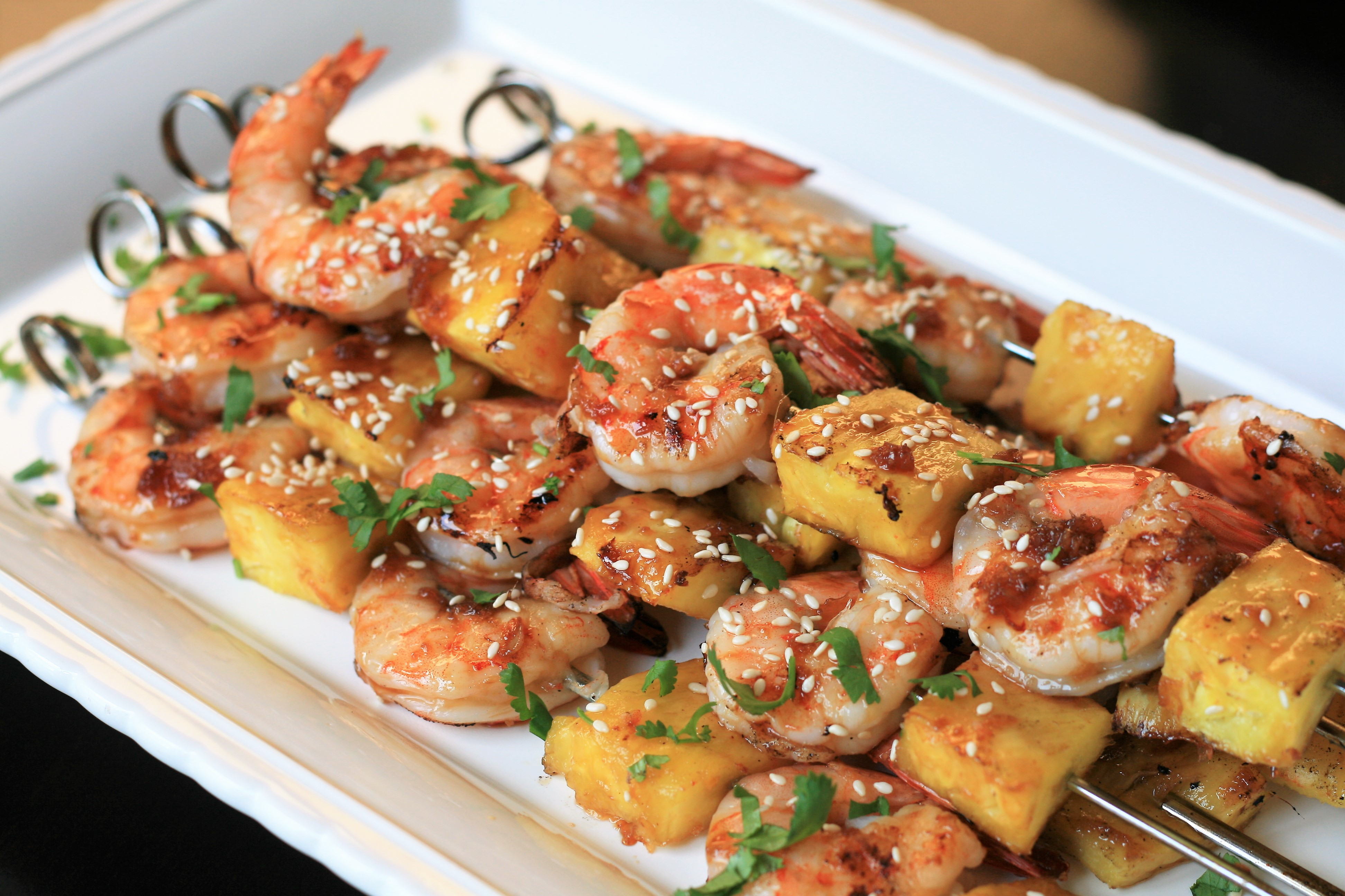 Grilled Teriyaki Shrimp and Pineapple Skewers