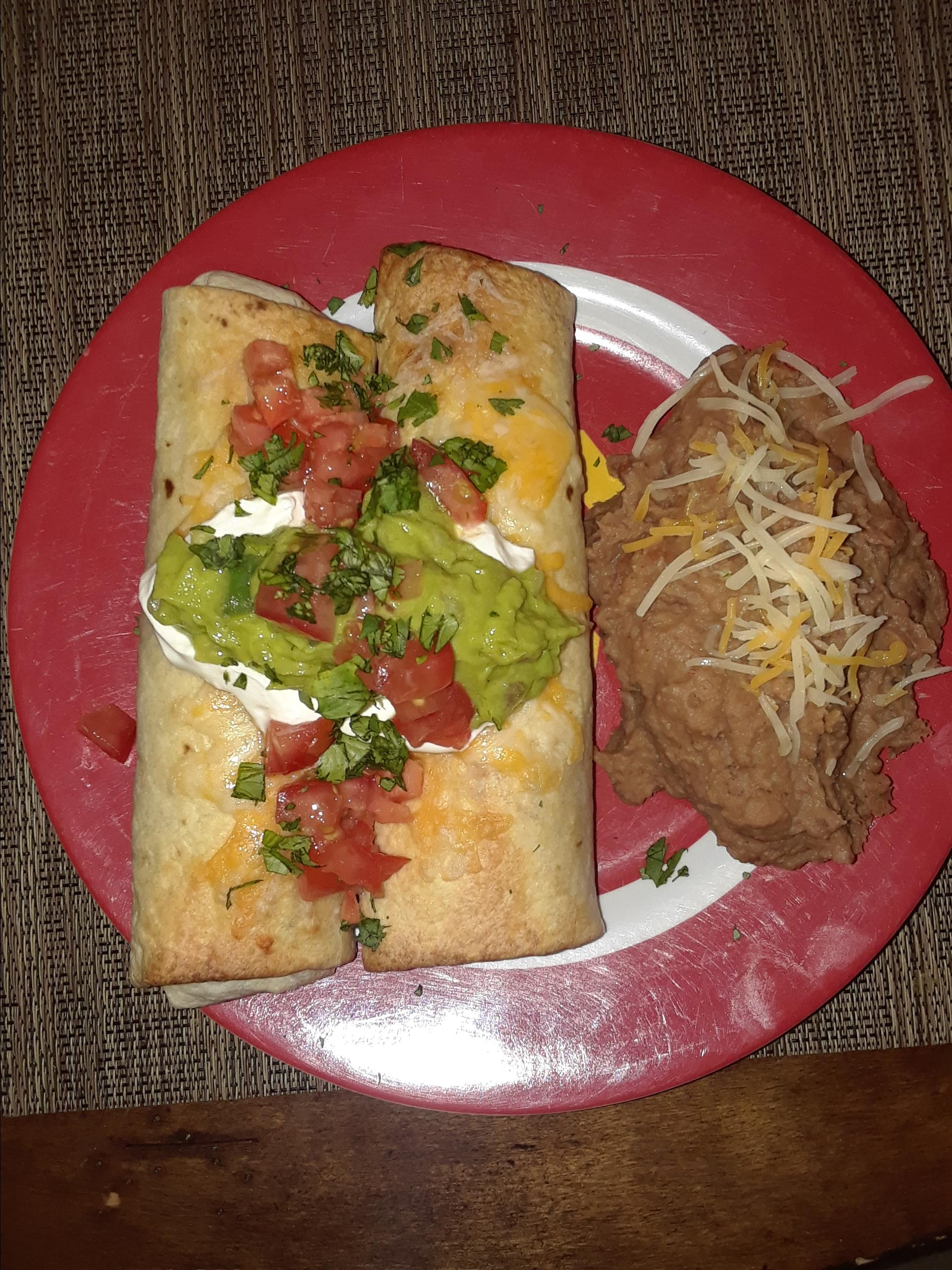 Baked Chicken and Rice Chimichangas Christine