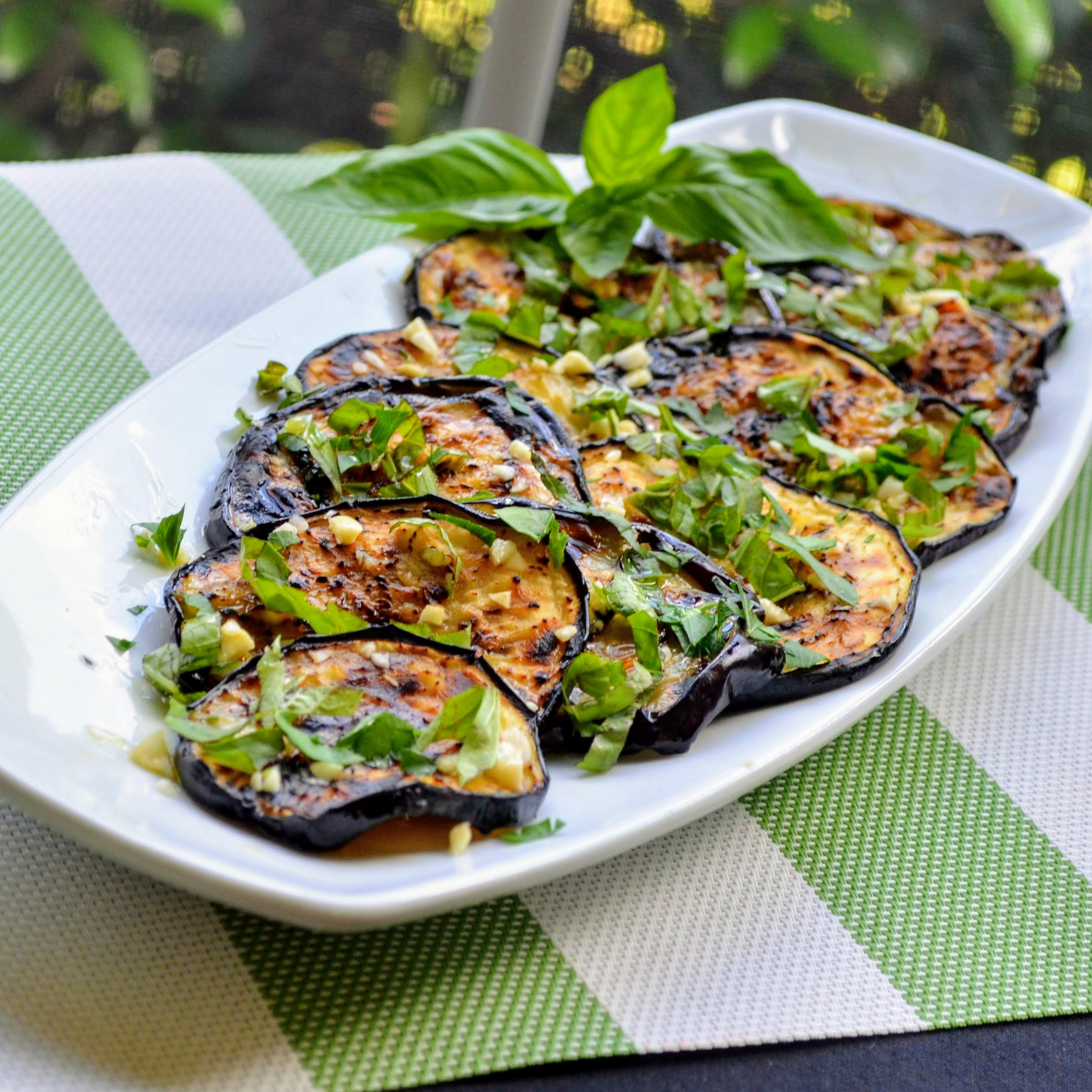 Italian Grilled Eggplant with Basil and Parsley (Melanzane Grigliate al Basilico e Prezzemolo)