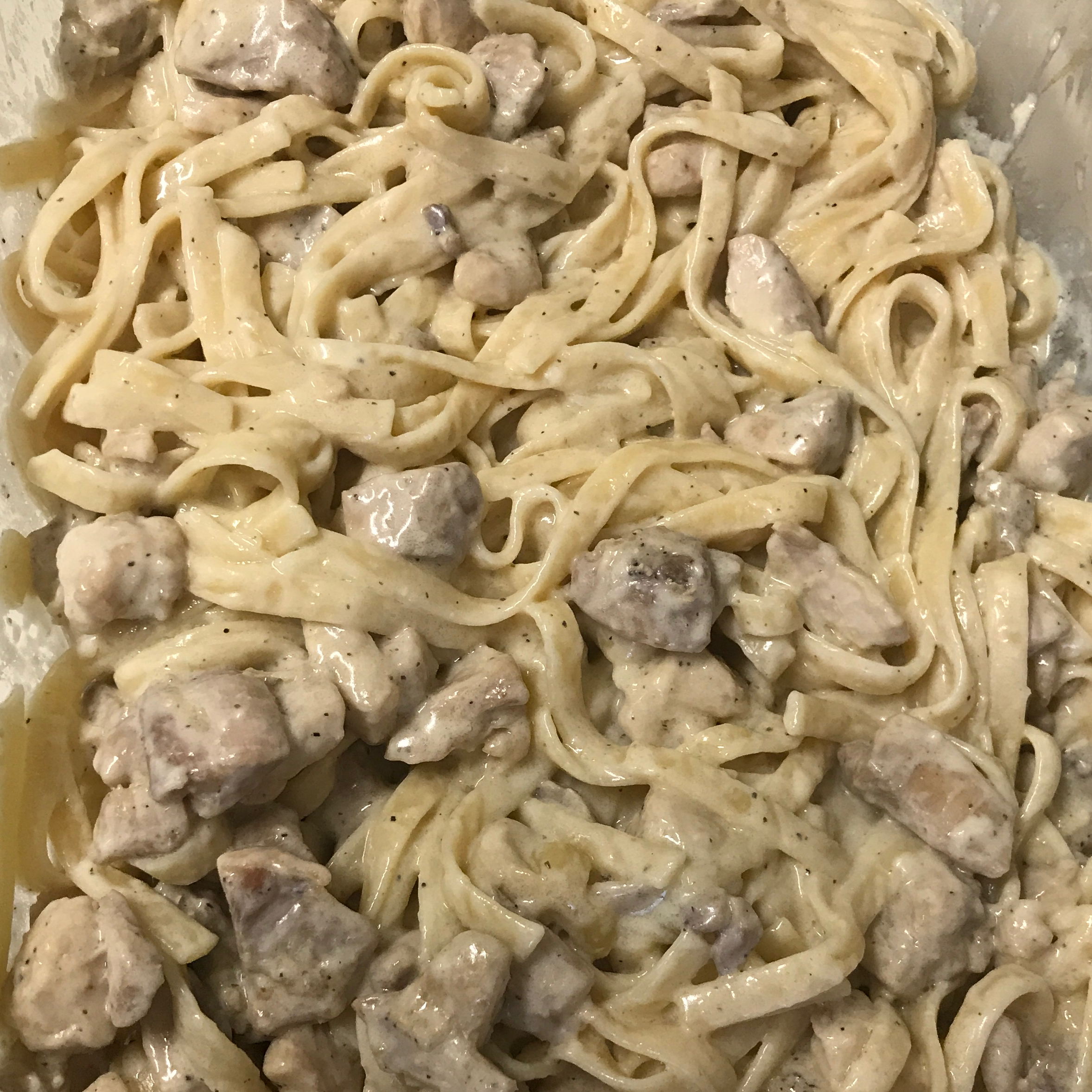 Fettuccine Alfredo with Chicken Philadelphia