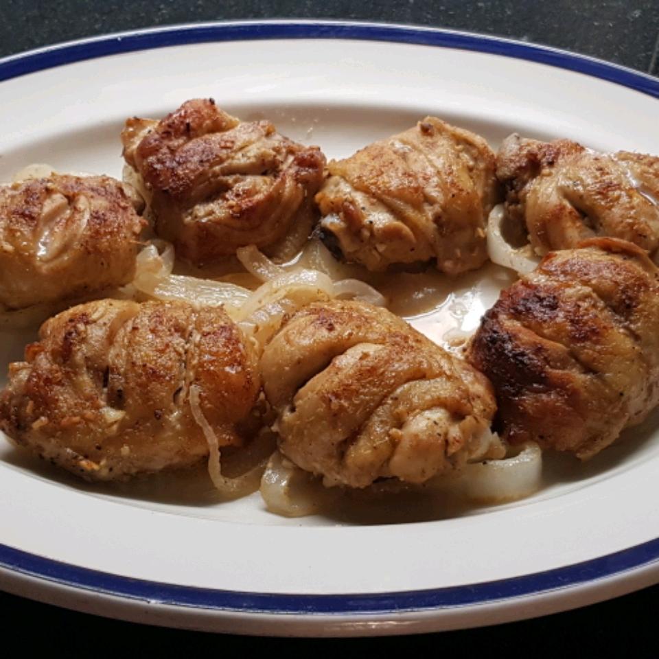 Sweet Hot Mustard Chicken Thighs Gombeto