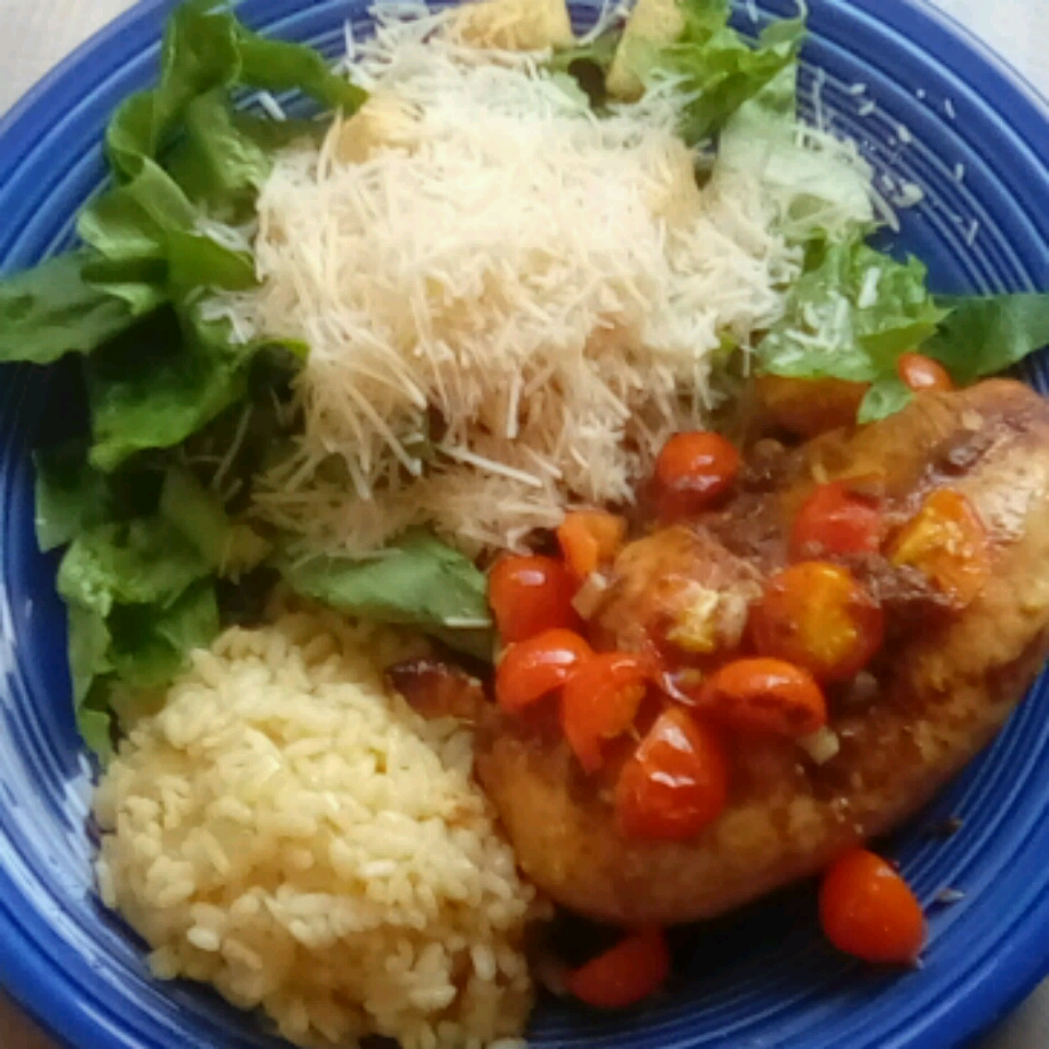 Roasted Balsamic Chicken with Baby Tomatoes Trina RG