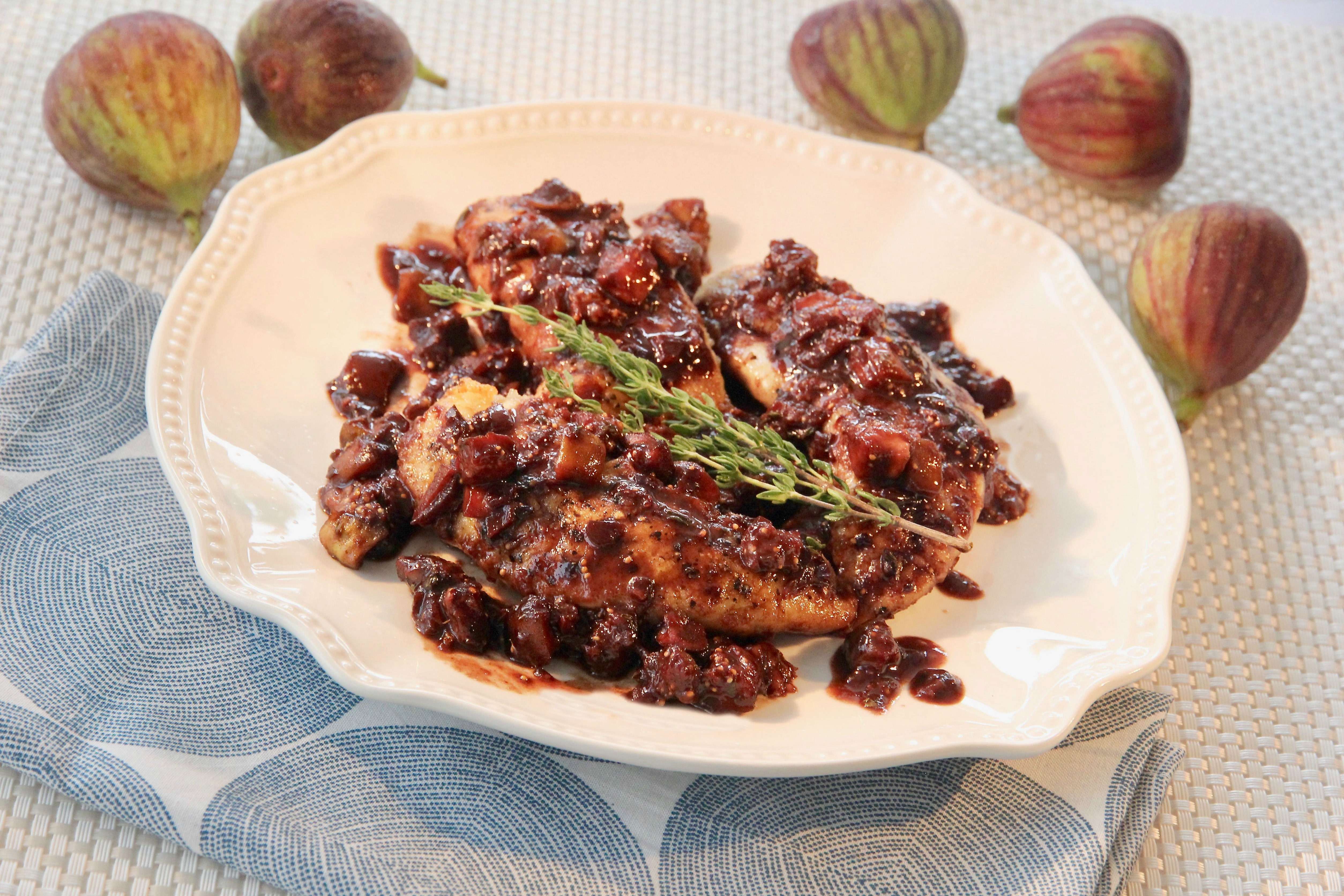 Chicken Tenders with Balsamic-Fig Sauce