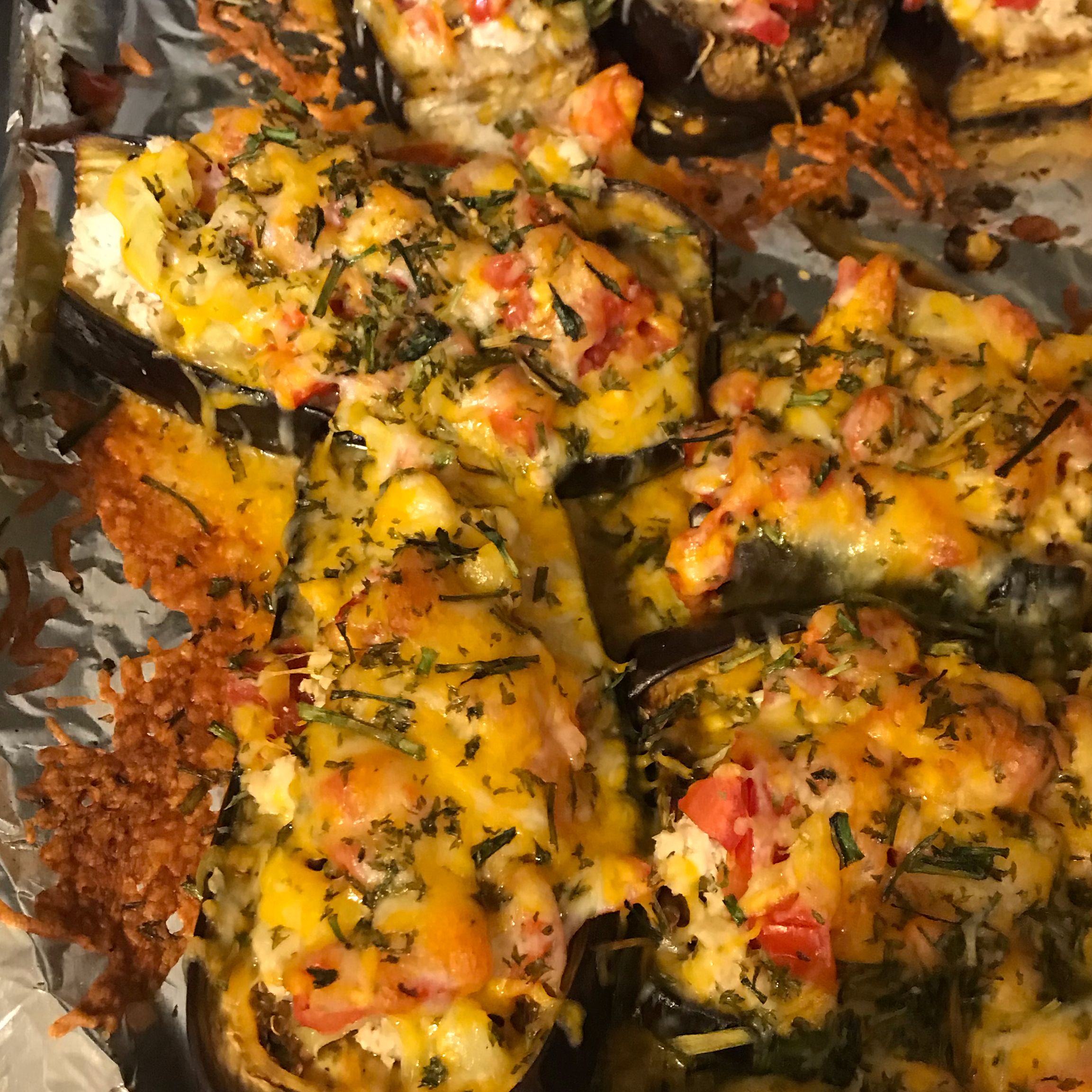 Eggplant Stuffed with Chicken and Cheese Jill W.