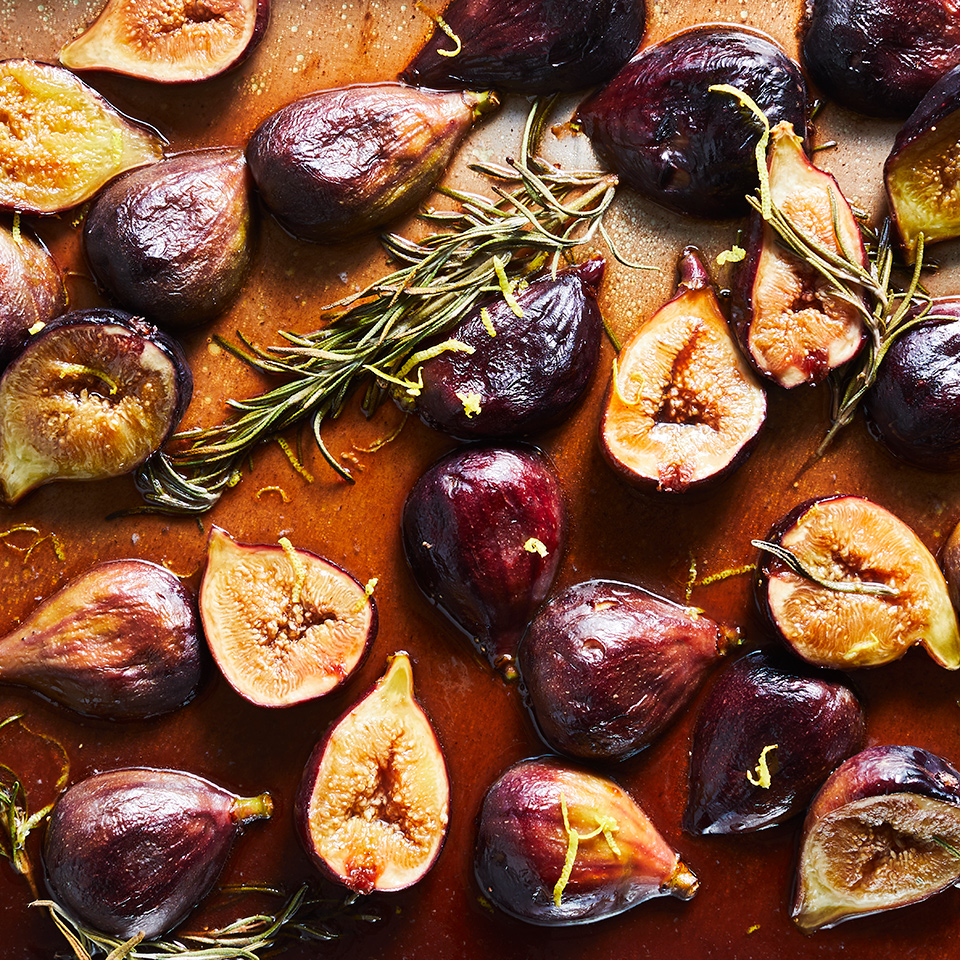 These roasted figs are brimming with sweet-and-savory flavors. The final dish tastes like a less sweet, chunkier version of fig jam but also delivers savory depth, thanks to the rosemary and salt. Add these roasted figs atop yogurt, ice cream, toast or even grilled pork or chicken.