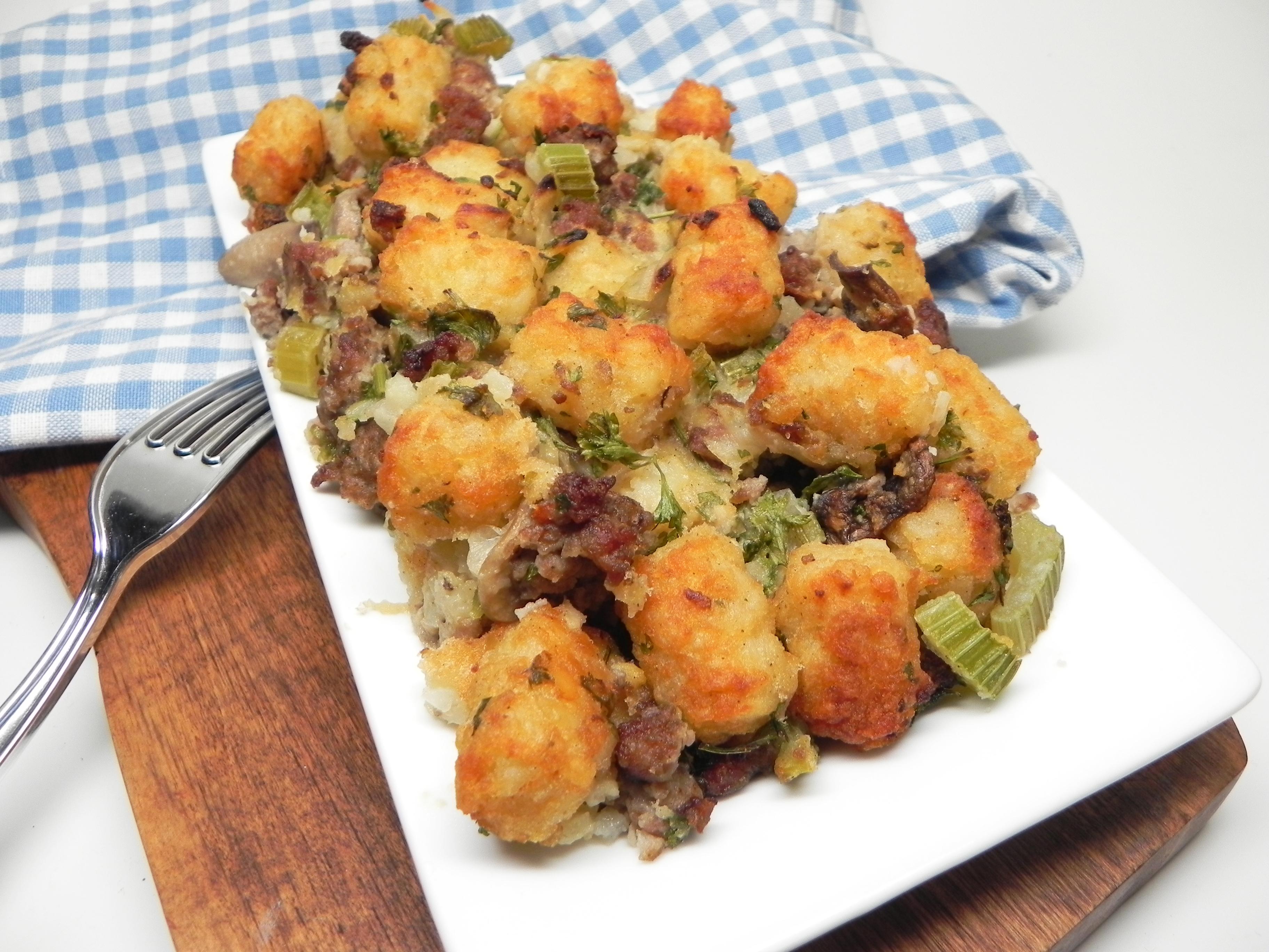 Sausage-Mushroom Tater Tot(R) Stuffing