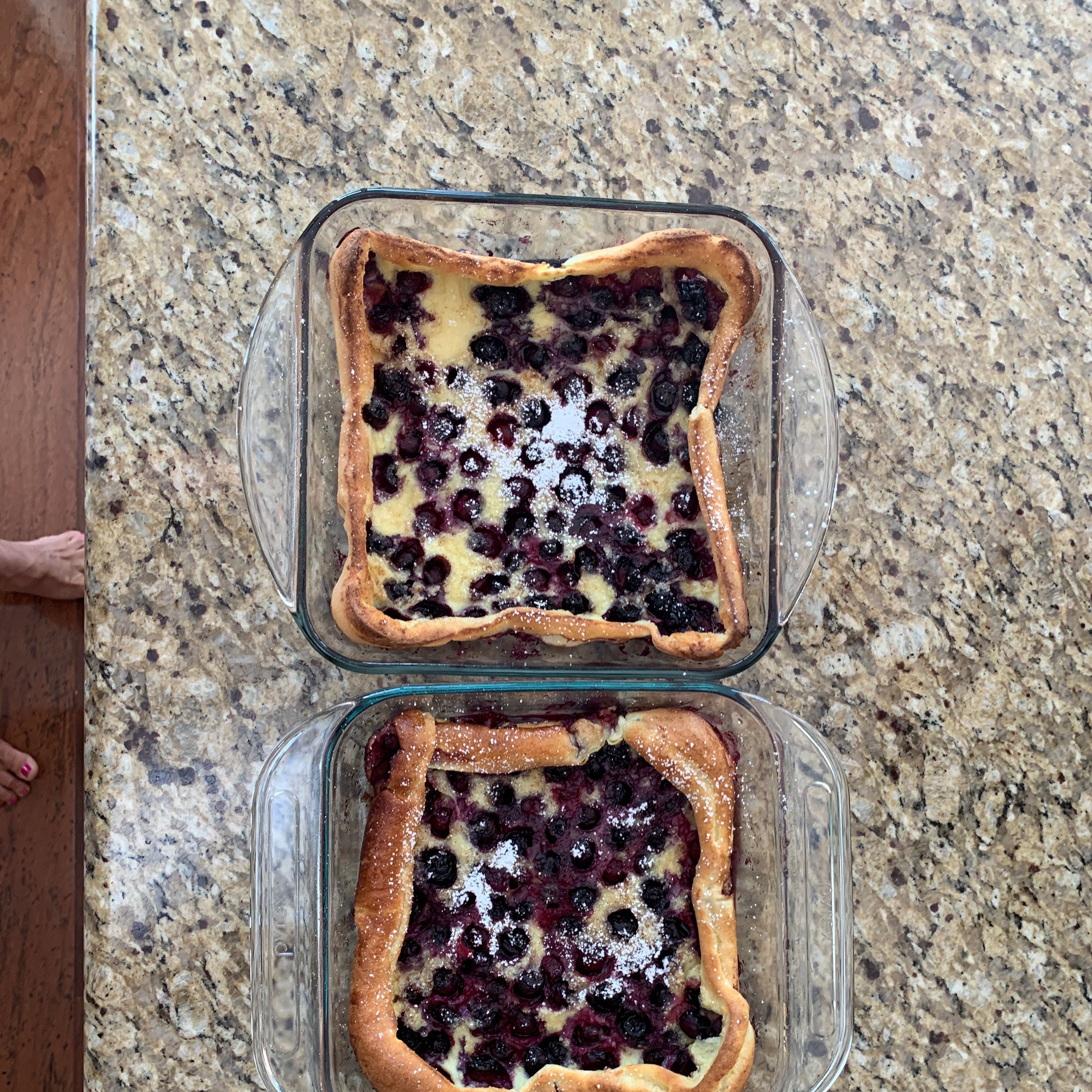 Puffed Blueberry Pancakes