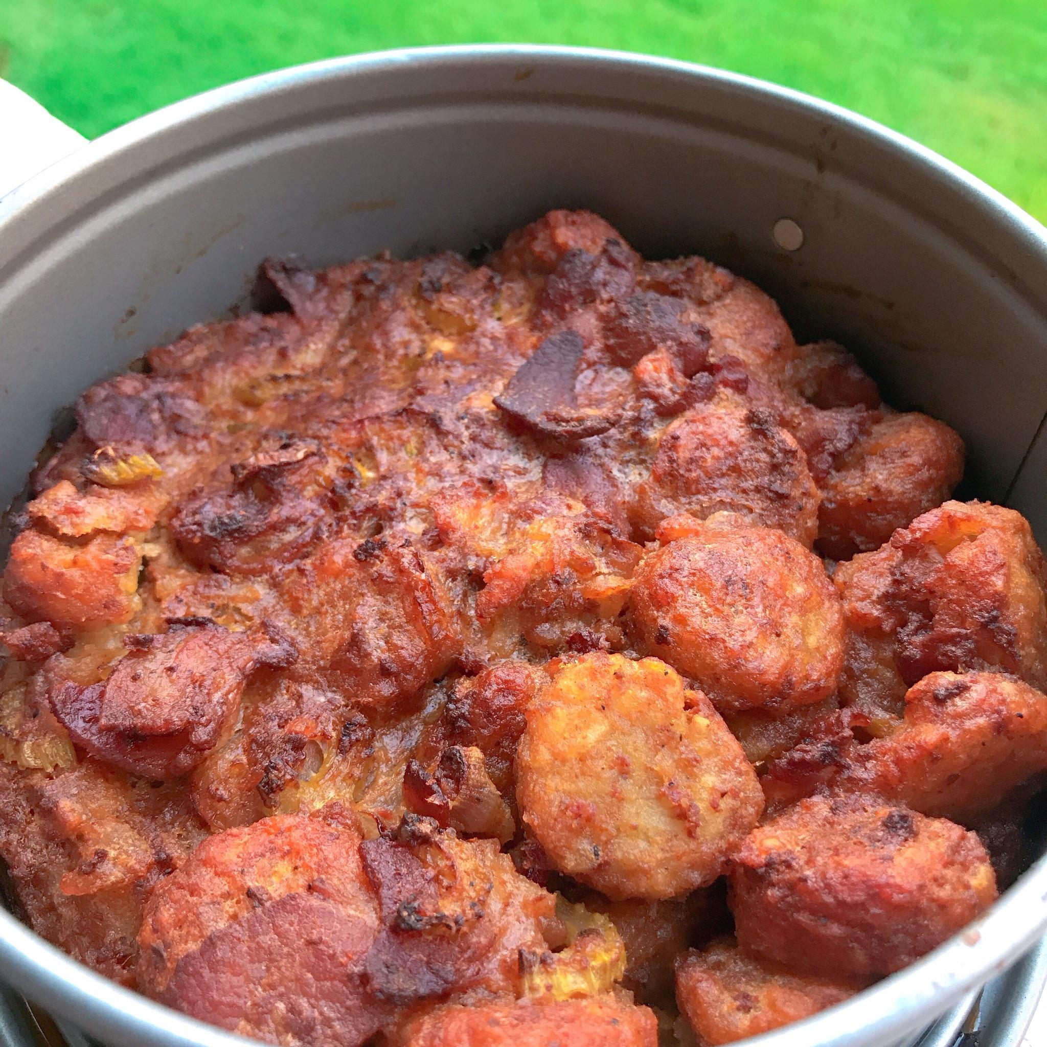 Air Fryer Bacon-Chorizo Tater Tot(R) Dressing