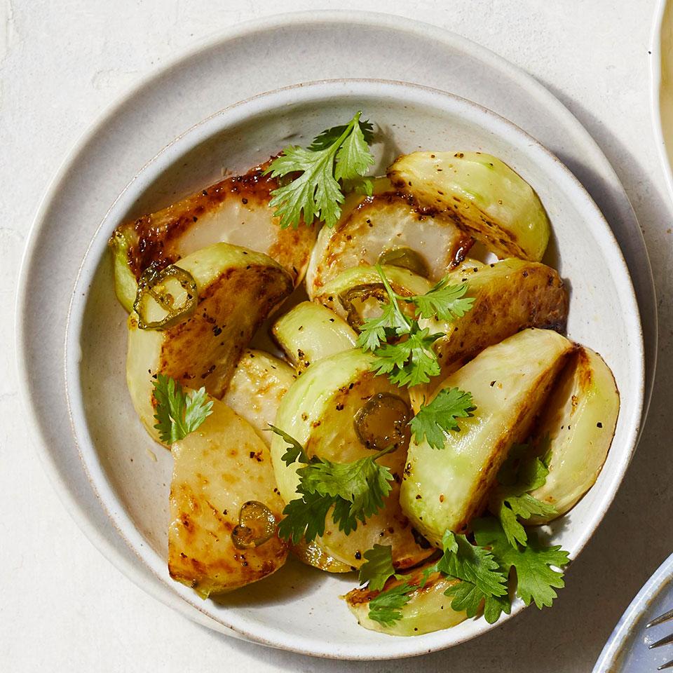 Chile-Garlic Roasted Kohlrabi Adam Dolge