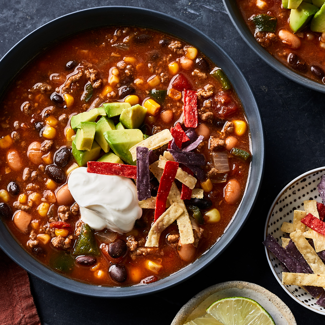 Bean & Beef Taco Soup Julia Levy