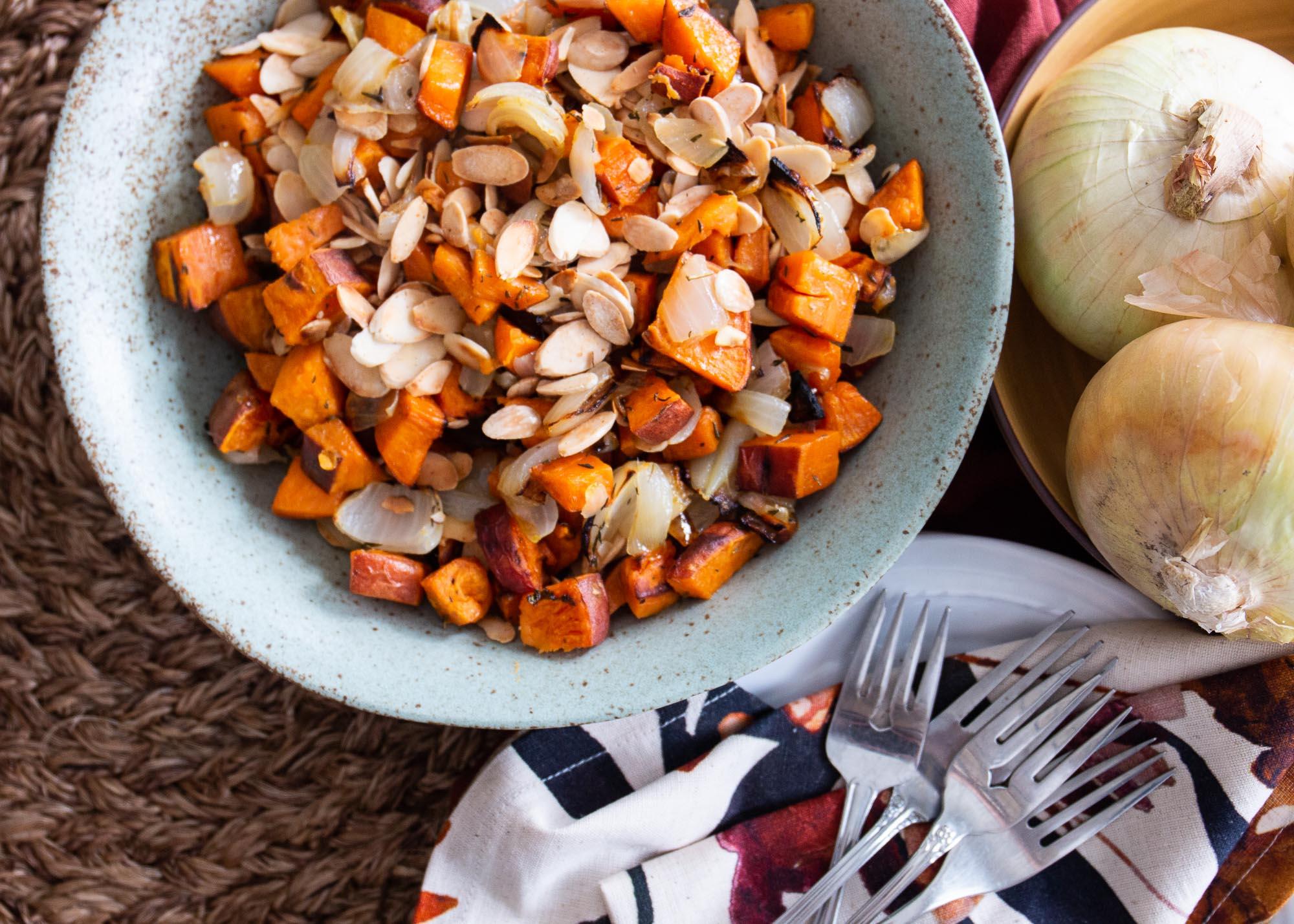 Roasted Sweet Potatoes & Onions image