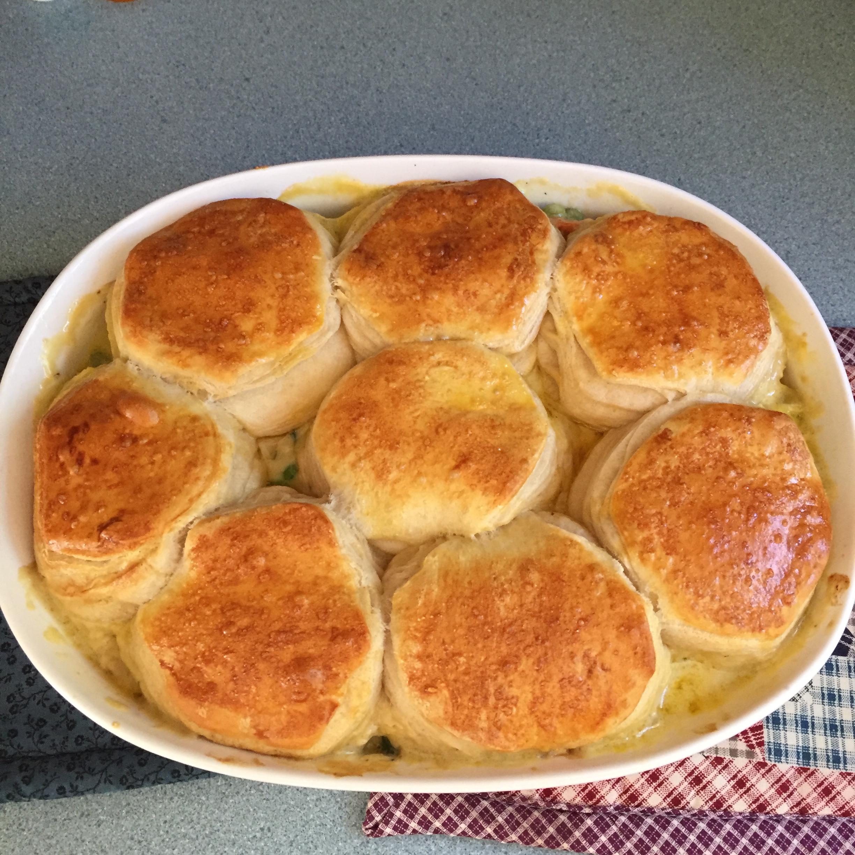 Mom's Fabulous Chicken Pot Pie with Biscuit Crust Deb