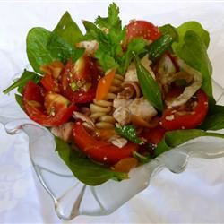 Sesame Chicken Pasta Salad OkinawanPrincess