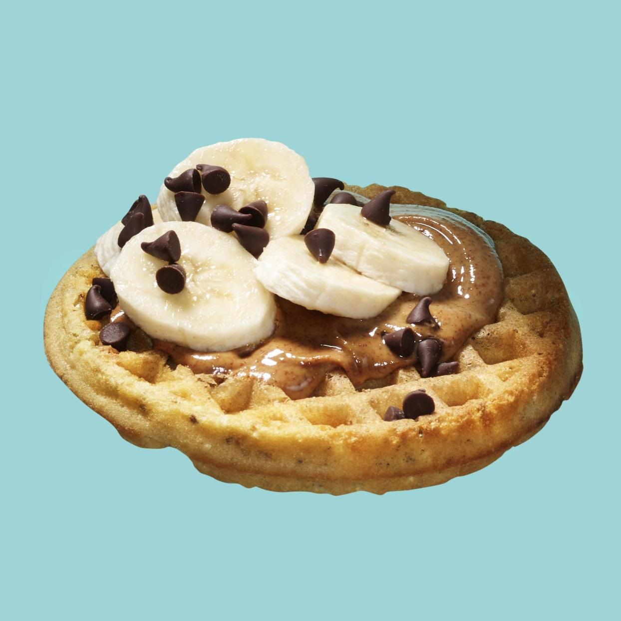 Waffle with Nut Butter, Banana & Chocolate Chips Joyce Hendley
