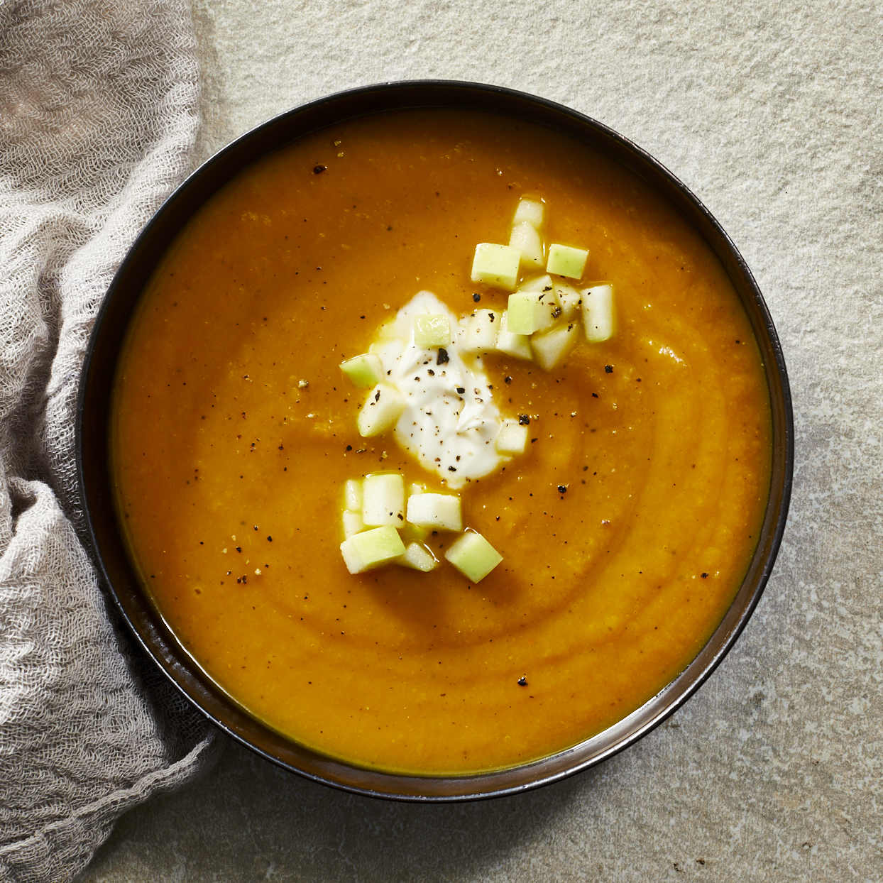 Curried Butternut Squash & Apple Soup Sarah Epperson