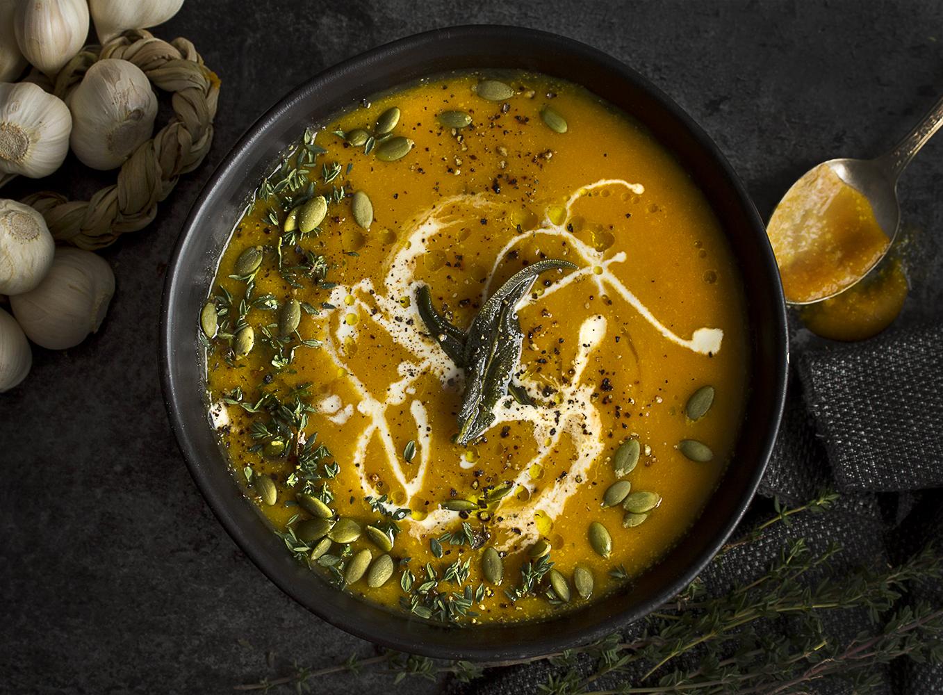 Sweet Vegan Butternut Squash Soup