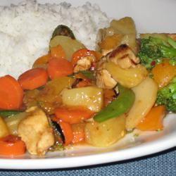 Spicy Apricot Chicken Stir-Fry Teri Carrillo-Fox