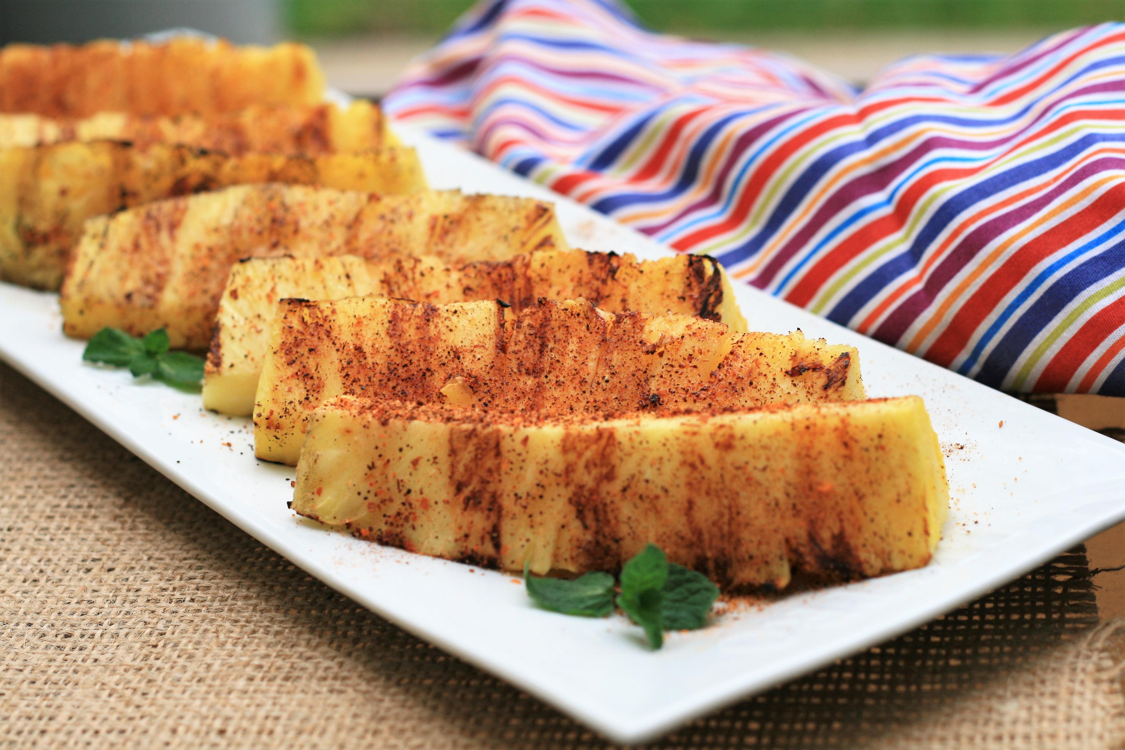 Tajin Grilled Pineapple