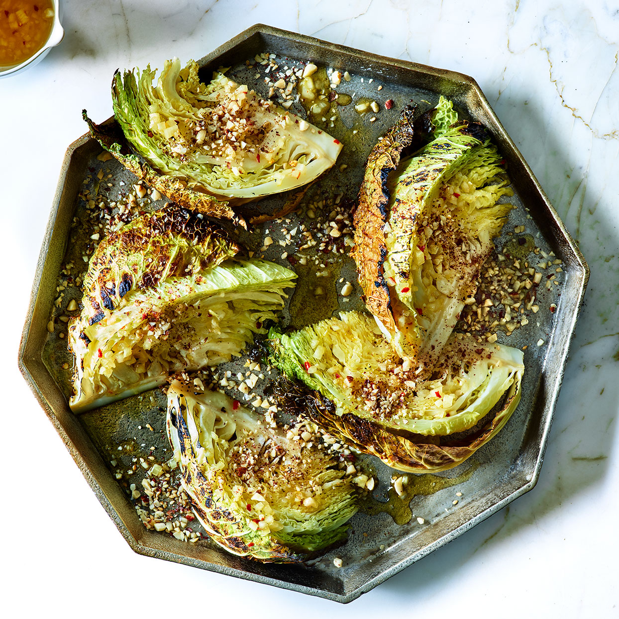 Roasted Savoy Cabbage With Orange Vinaigrette Recipe Eatingwell