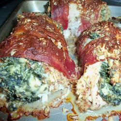 Chicken Breast Stuffed with Spinach Blue Cheese and Bacon Julie West Flom