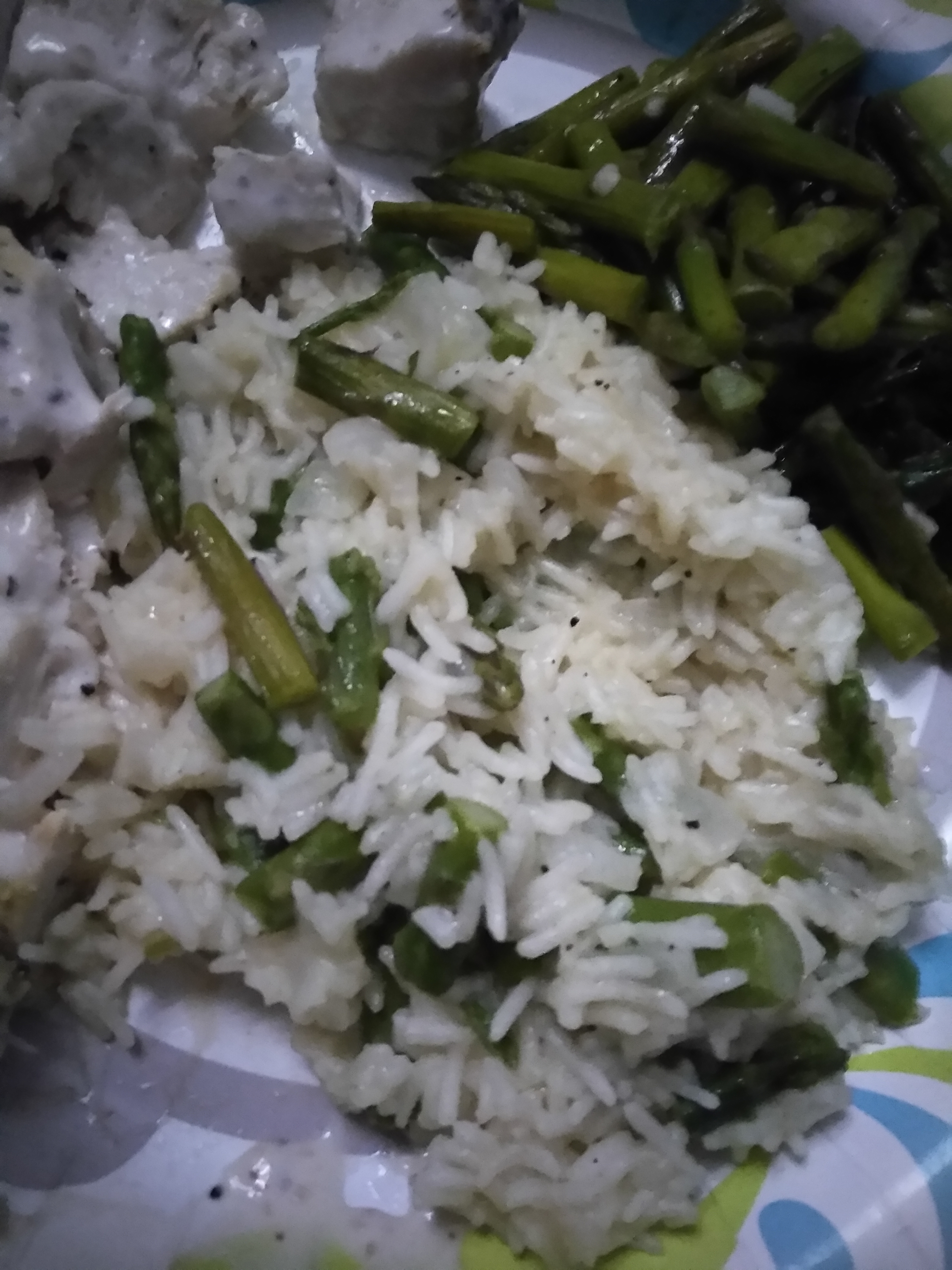 Parmesan Asparagus Rice image