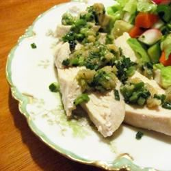Chicken with Ginger Pesto
