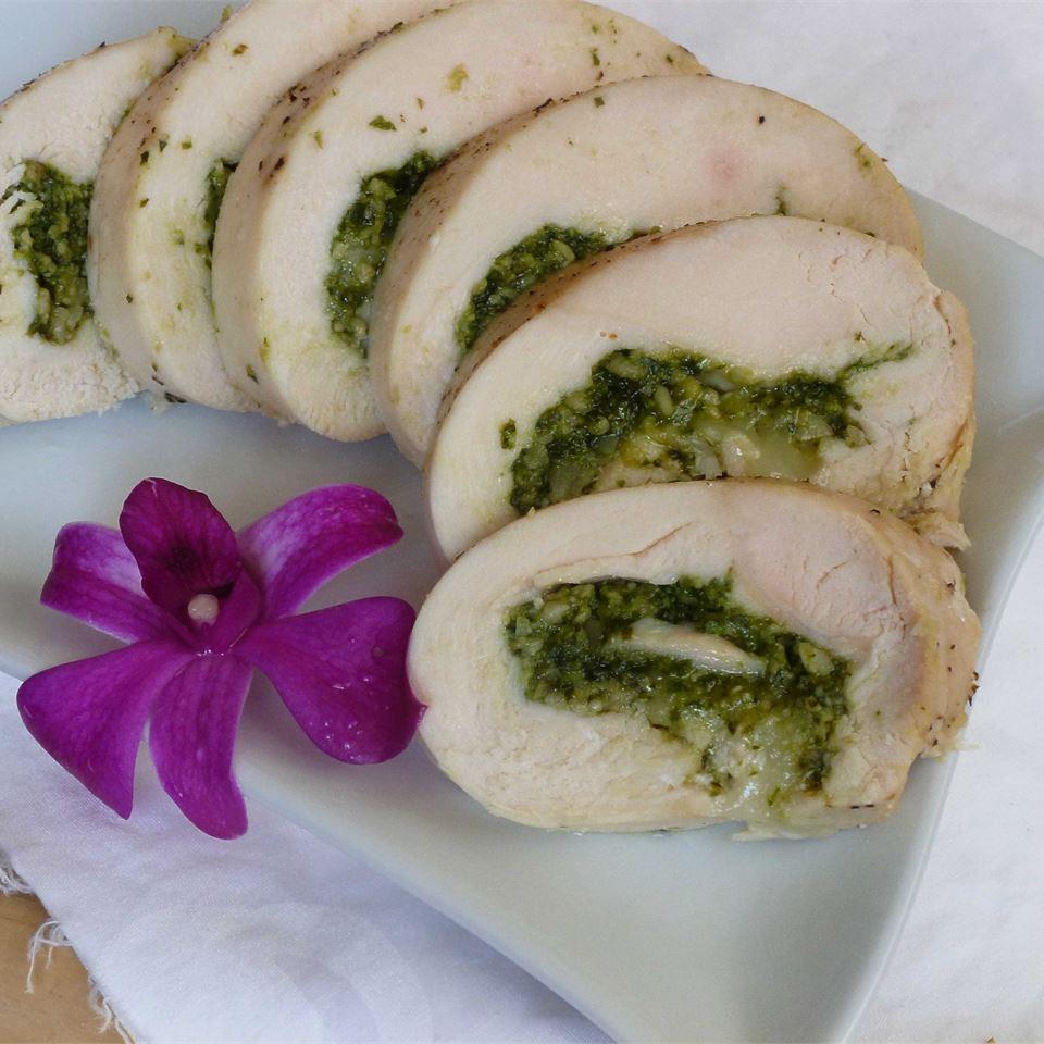 Pesto Cheesy Chicken Rolls