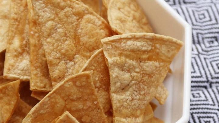 tortilhas fritas e assadas