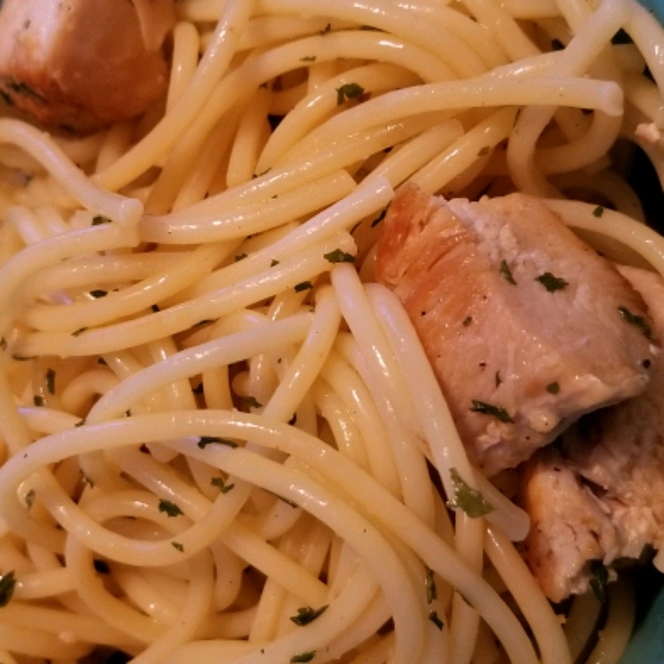 Angel Hair Pasta with Lemon and Chicken (Lighter) image