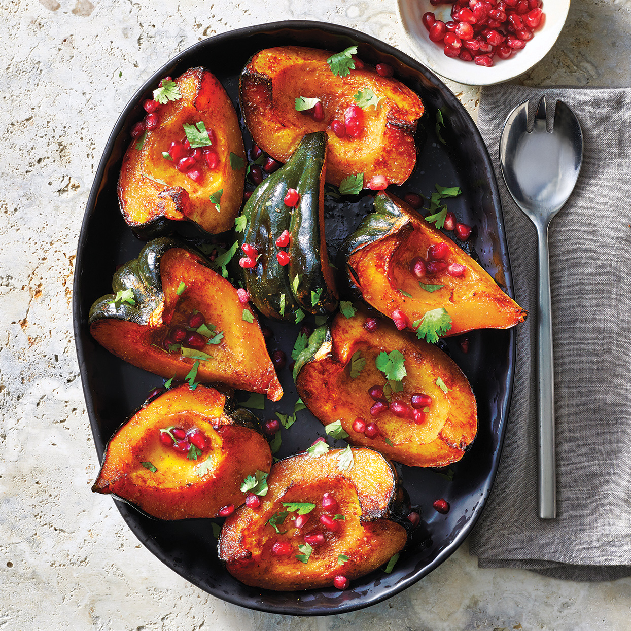 With the honey, butter and cinnamon sauce drizzled on top and the sprinkling of pomegranate arils, this slow-cooker acorn squash is almost like a dessert. You can also drizzle the sauce over oatmeal and baked apples for breakfast.